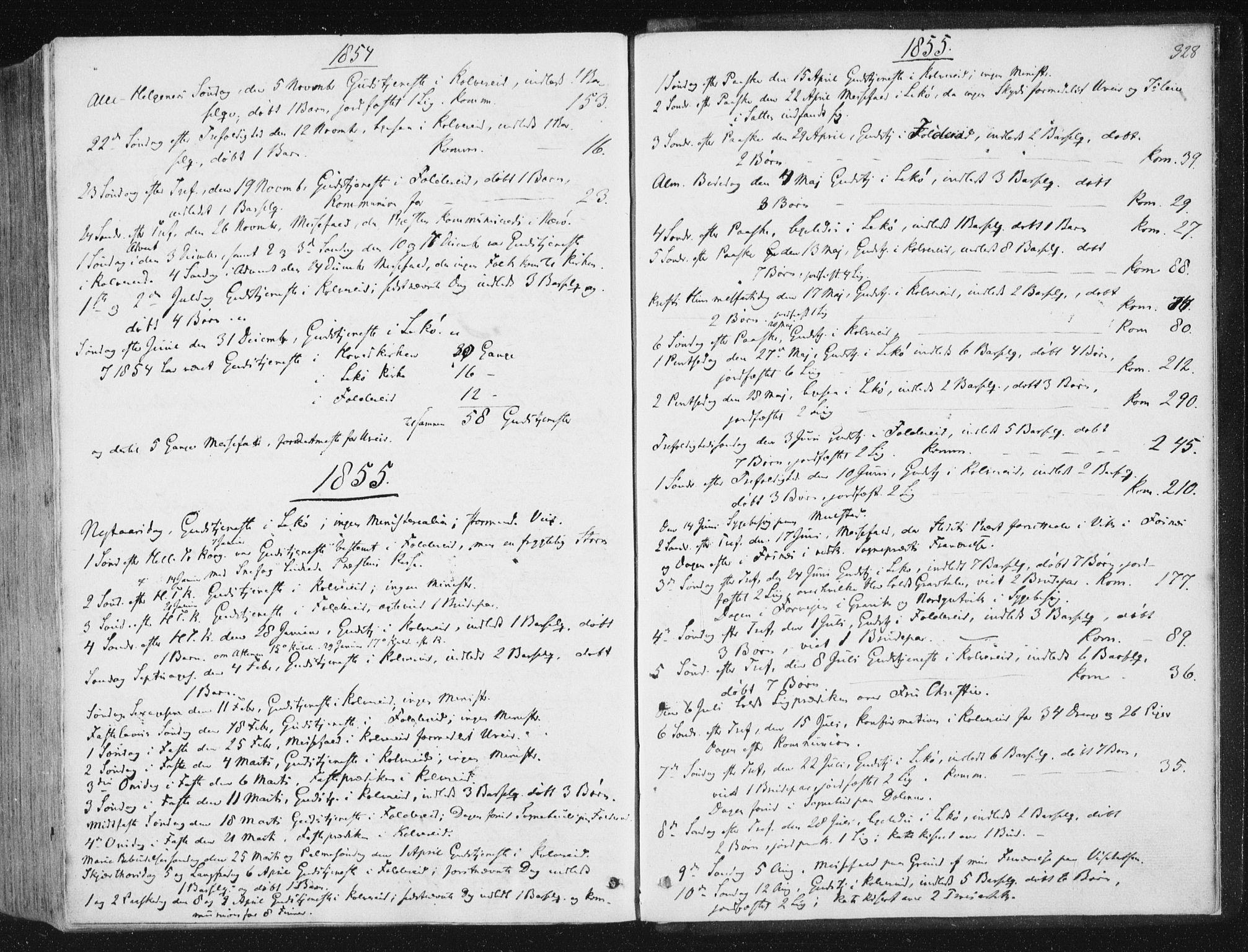 SAT, Ministerialprotokoller, klokkerbøker og fødselsregistre - Nord-Trøndelag, 780/L0640: Ministerialbok nr. 780A05, 1845-1856, s. 328