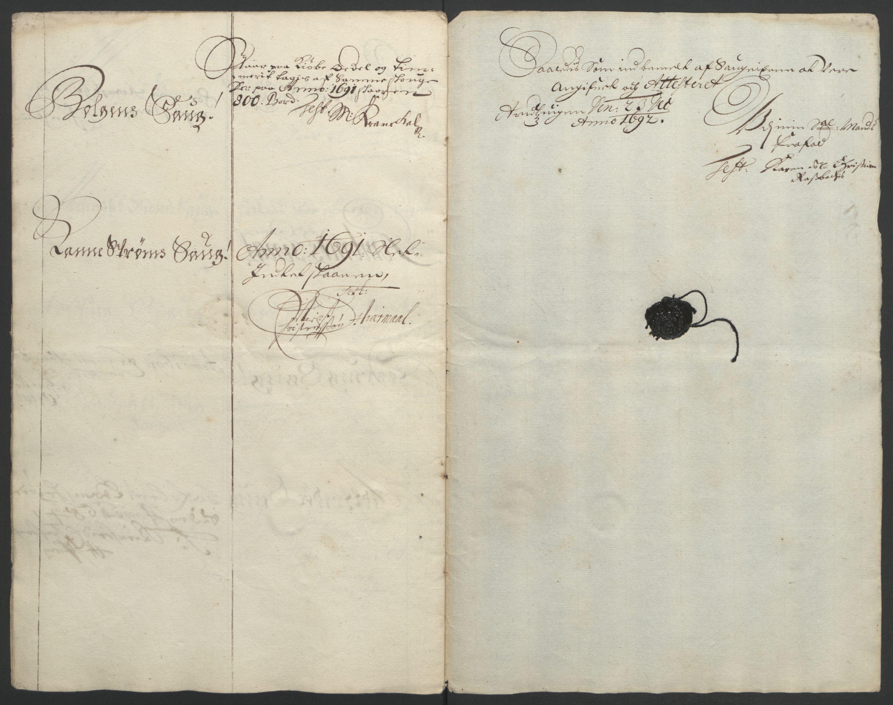 RA, Rentekammeret inntil 1814, Reviderte regnskaper, Fogderegnskap, R56/L3734: Fogderegnskap Nordmøre, 1690-1691, s. 292