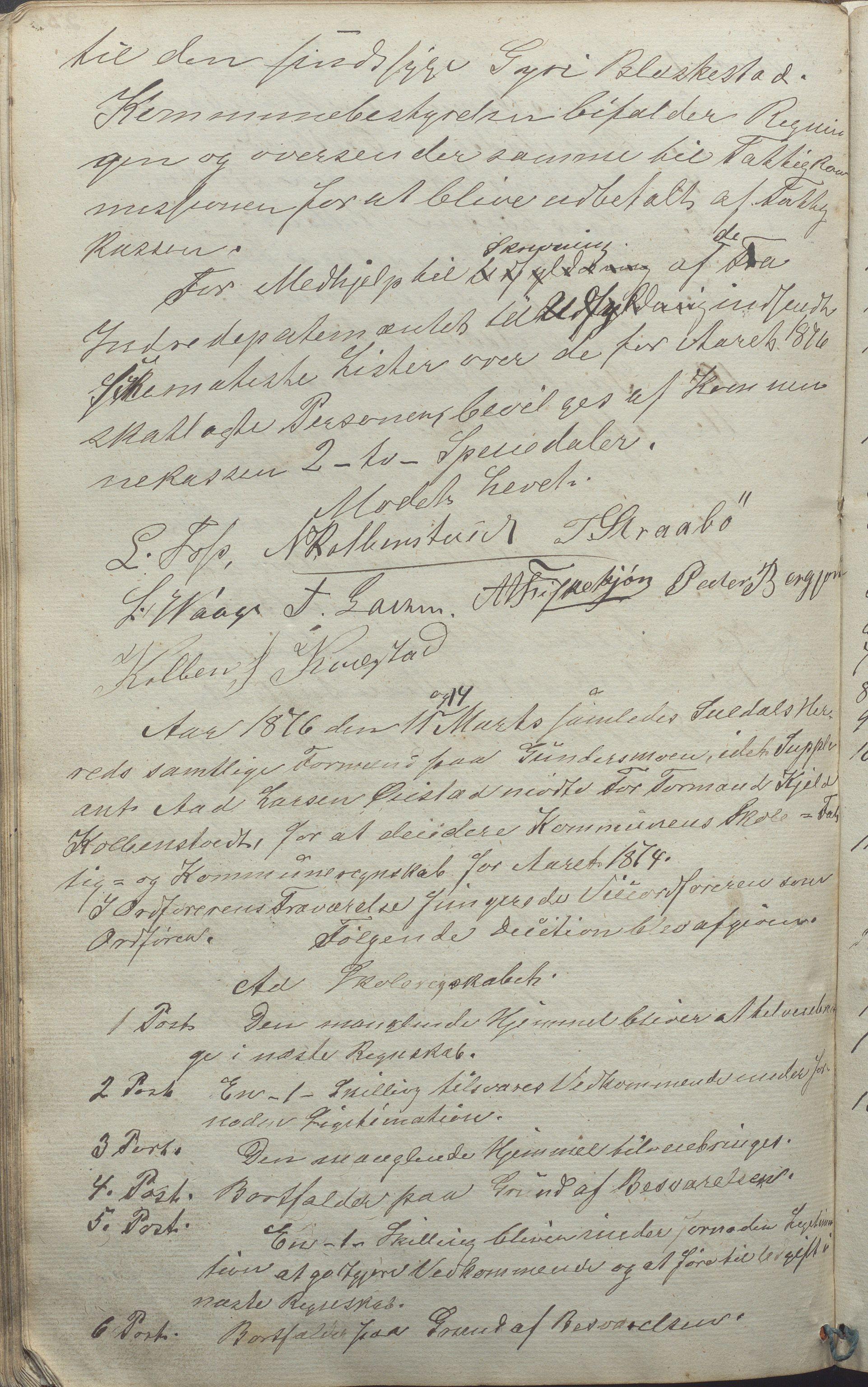 IKAR, Suldal kommune - Formannskapet/Rådmannen, A/Aa/L0001: Møtebok, 1837-1876, s. 234b