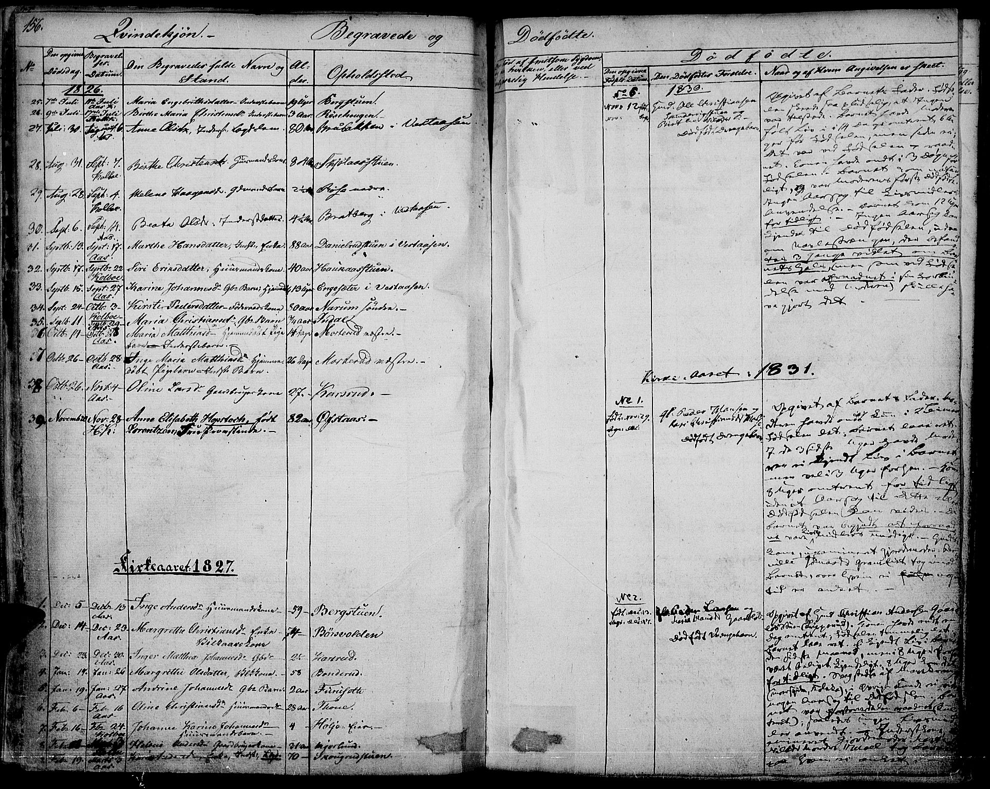SAH, Vestre Toten prestekontor, H/Ha/Haa/L0002: Ministerialbok nr. 2, 1825-1837, s. 156