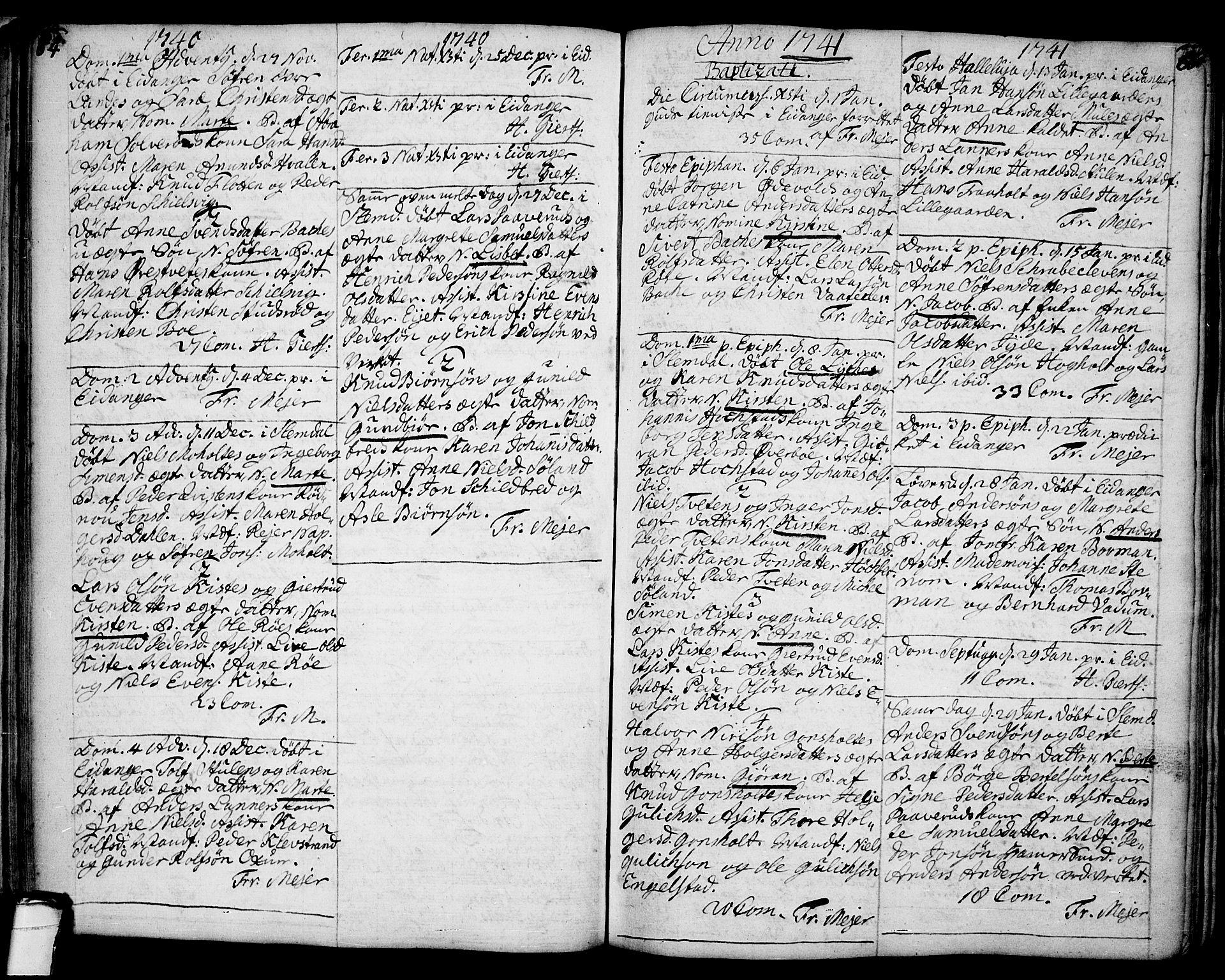 SAKO, Eidanger kirkebøker, F/Fa/L0004: Ministerialbok nr. 4, 1733-1759, s. 64-65