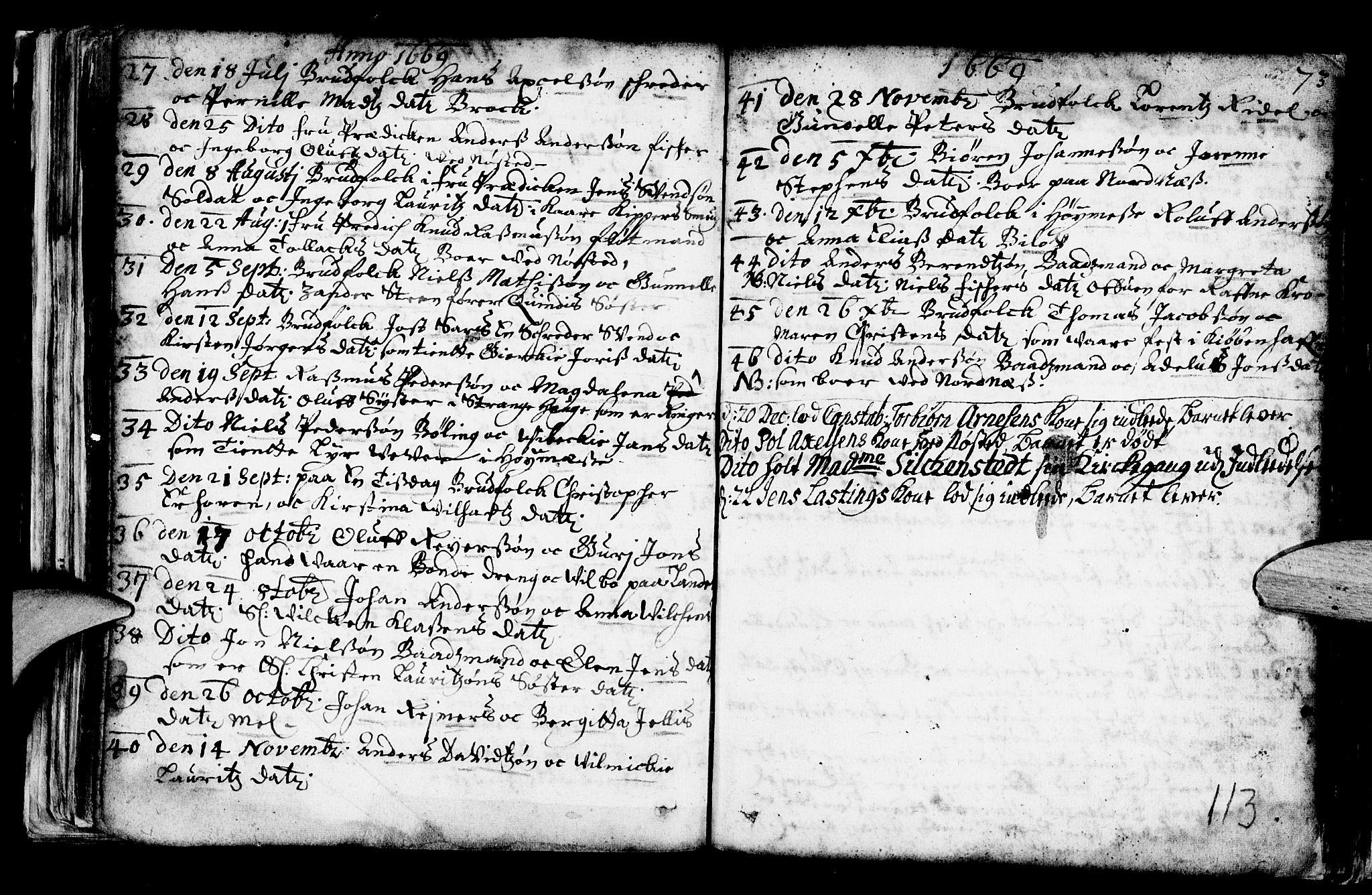 SAB, Nykirken Sokneprestembete, H/Haa: Ministerialbok nr. A 1, 1668-1820, s. 113