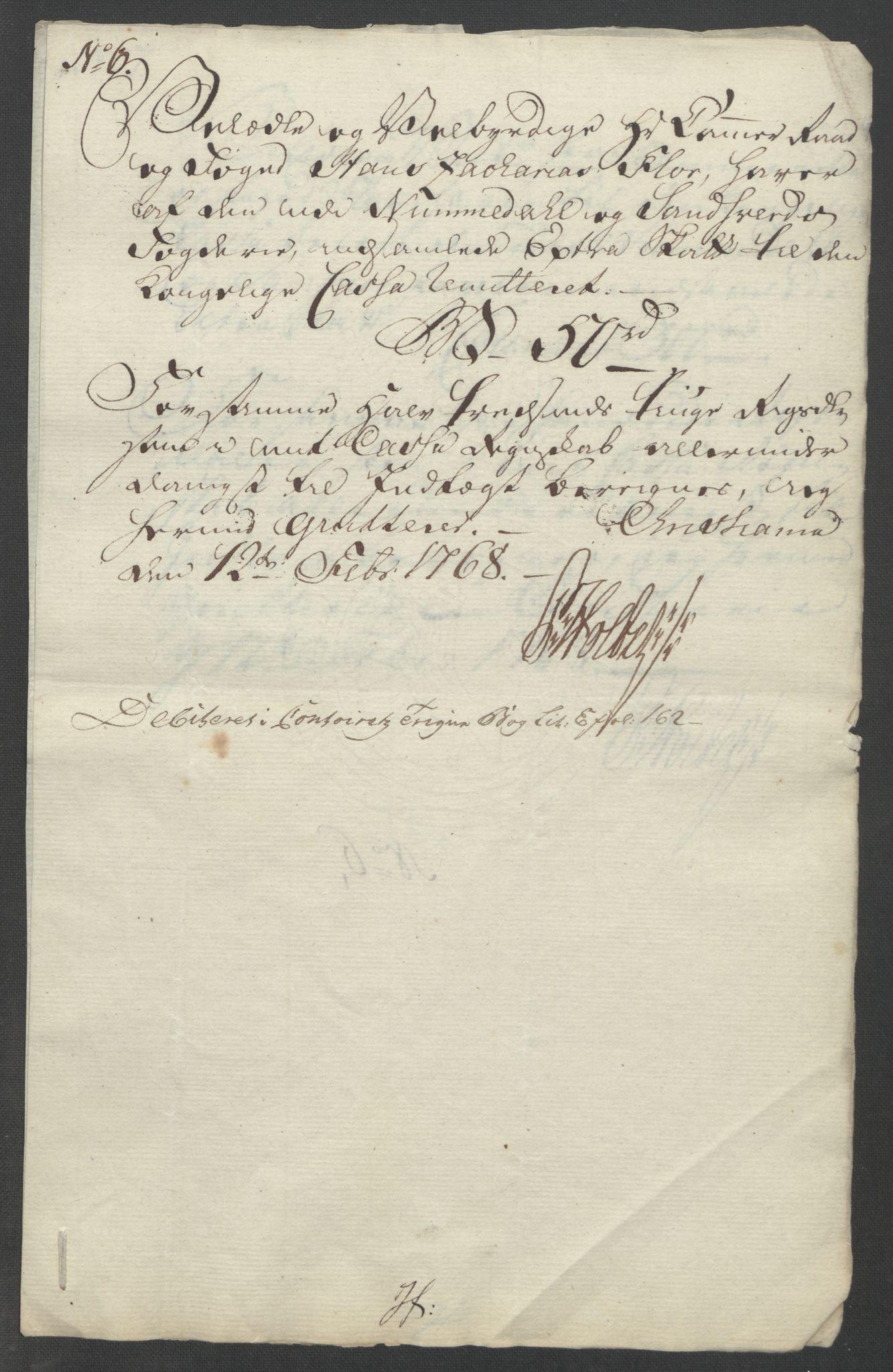 RA, Rentekammeret inntil 1814, Reviderte regnskaper, Fogderegnskap, R24/L1672: Ekstraskatten Numedal og Sandsvær, 1762-1767, s. 348