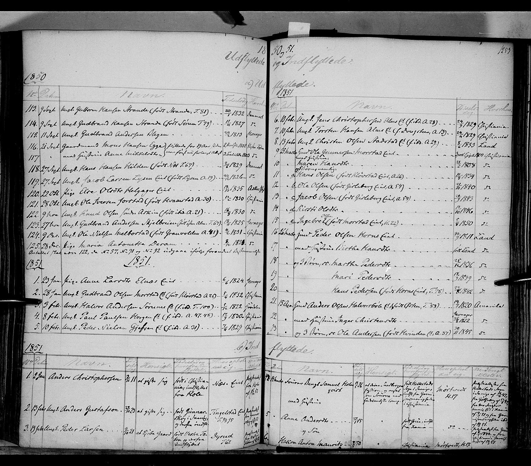 SAH, Gran prestekontor, Ministerialbok nr. 11, 1842-1856, s. 1252-1253