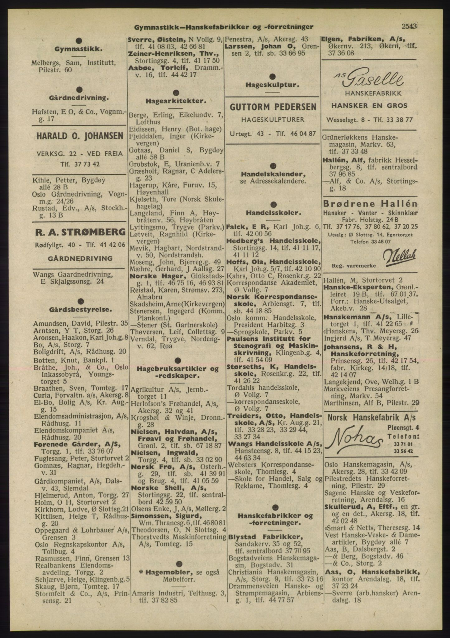 PUBL, Kristiania/Oslo adressebok, 1955, s. 2543