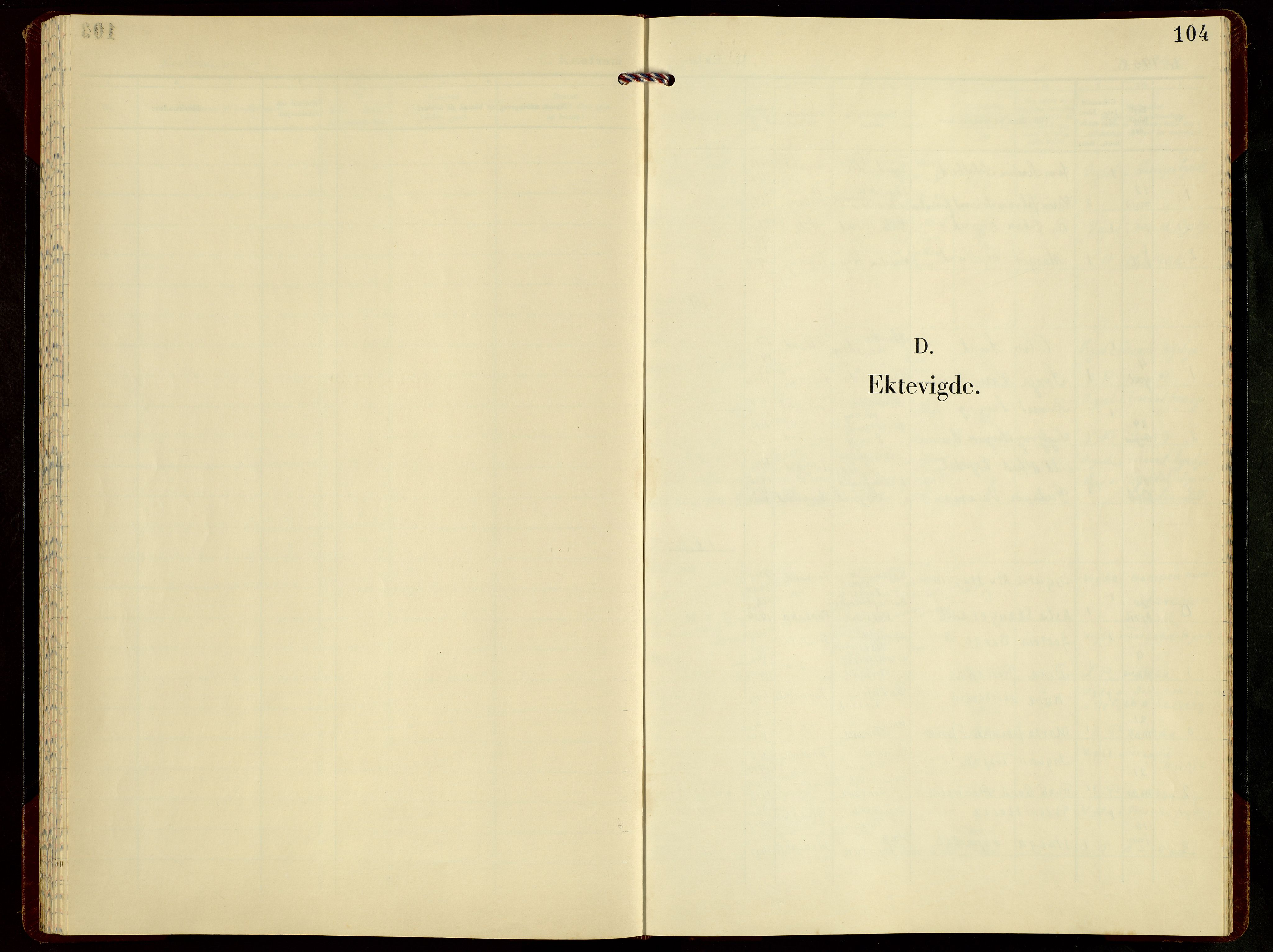 SAST, Høgsfjord sokneprestkontor, H/Ha/Hab/L0007: Klokkerbok nr. B 7, 1958-1977, s. 104