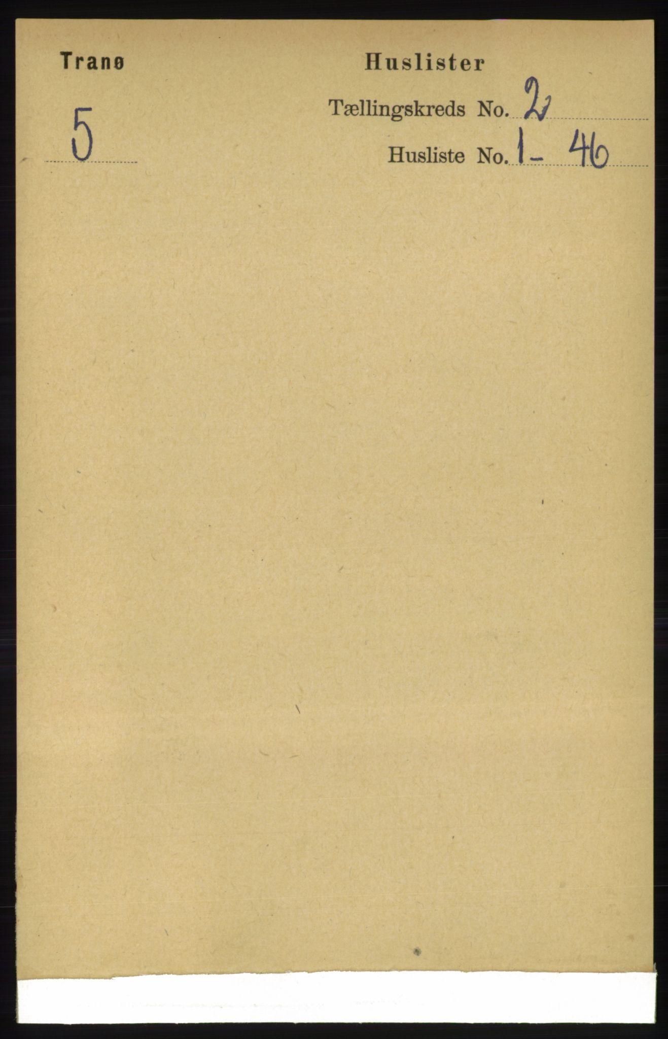 RA, Folketelling 1891 for 1927 Tranøy herred, 1891, s. 433