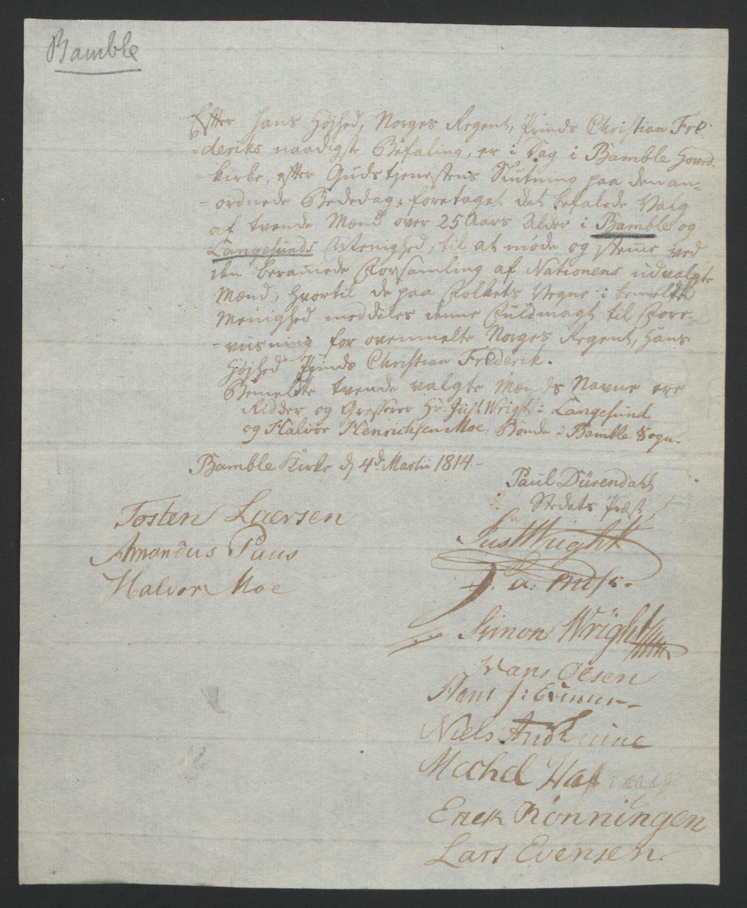 RA, Statsrådssekretariatet, D/Db/L0008: Fullmakter for Eidsvollsrepresentantene i 1814. , 1814, s. 40