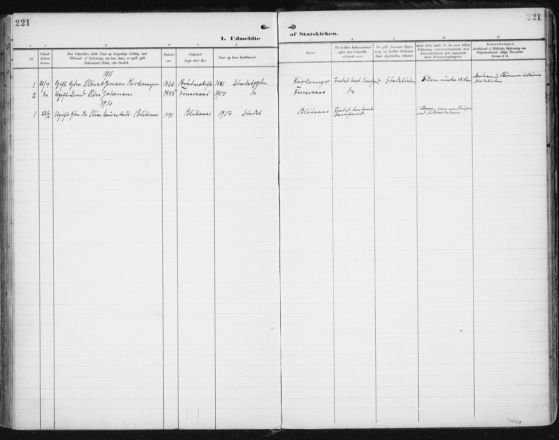 SAT, Ministerialprotokoller, klokkerbøker og fødselsregistre - Sør-Trøndelag, 646/L0616: Ministerialbok nr. 646A14, 1900-1918, s. 221