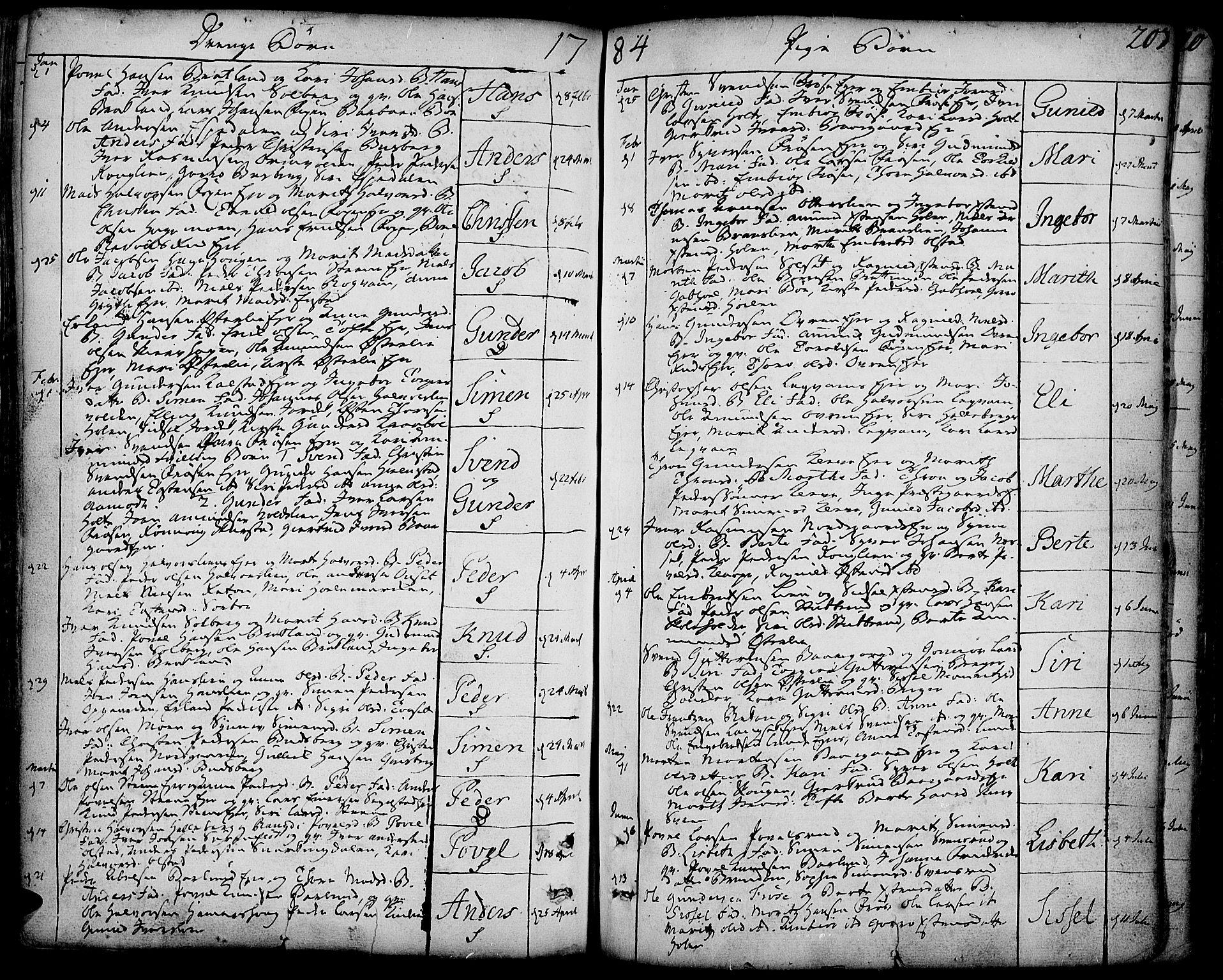 SAH, Gausdal prestekontor, Ministerialbok nr. 3, 1758-1809, s. 203