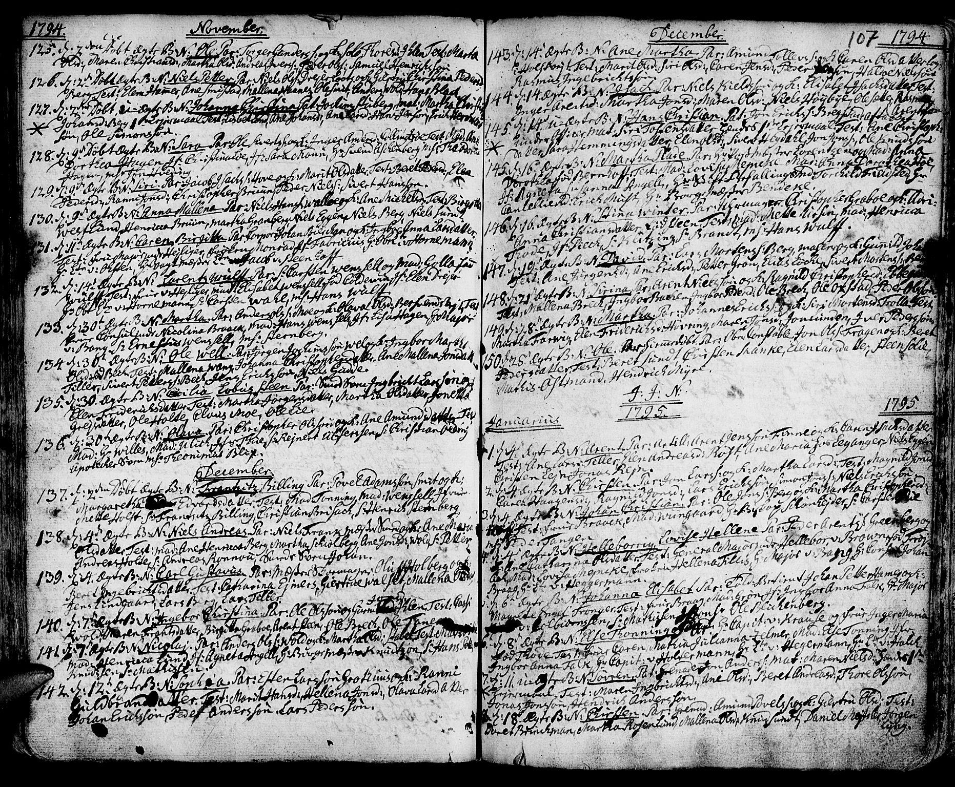 SAT, Ministerialprotokoller, klokkerbøker og fødselsregistre - Sør-Trøndelag, 601/L0039: Ministerialbok nr. 601A07, 1770-1819, s. 107