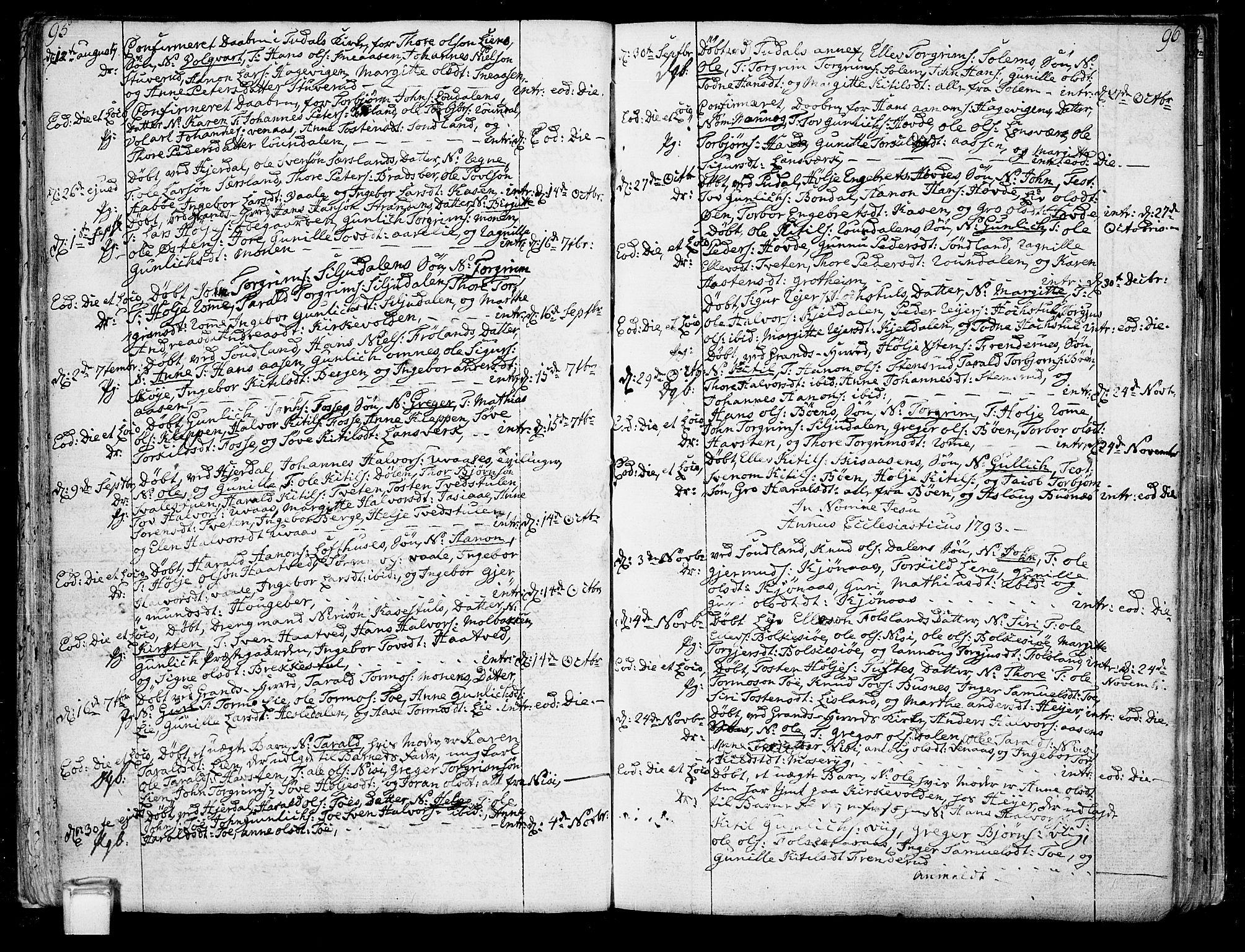 SAKO, Hjartdal kirkebøker, F/Fa/L0005: Ministerialbok nr. I 5, 1776-1801, s. 95-96