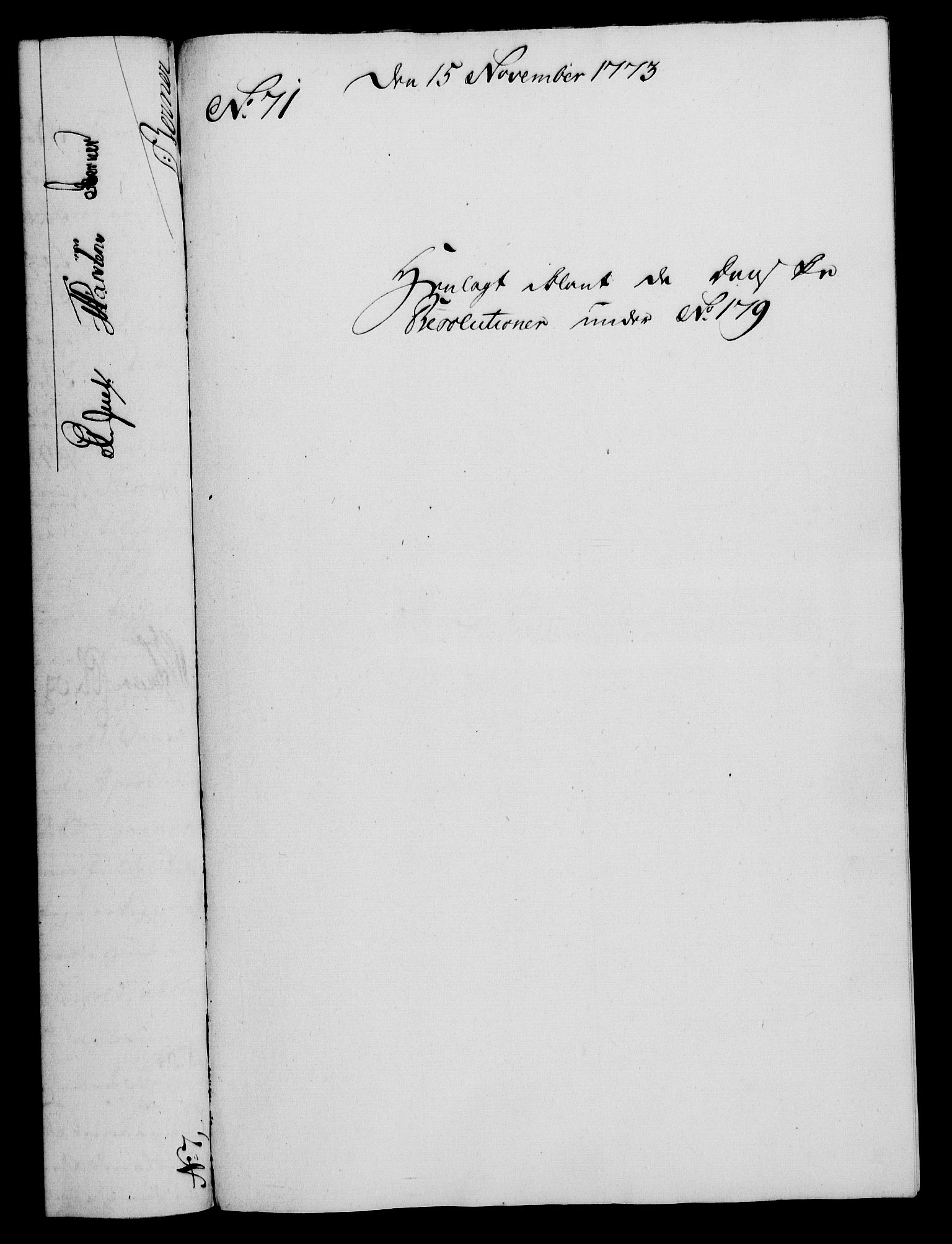 RA, Rentekammeret, Kammerkanselliet, G/Gf/Gfa/L0055: Norsk relasjons- og resolusjonsprotokoll (merket RK 52.55), 1773, s. 267