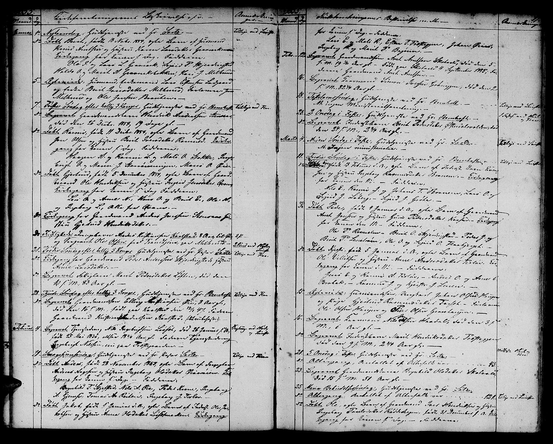 SAT, Ministerialprotokoller, klokkerbøker og fødselsregistre - Sør-Trøndelag, 691/L1093: Klokkerbok nr. 691C04, 1852-1879, s. 17
