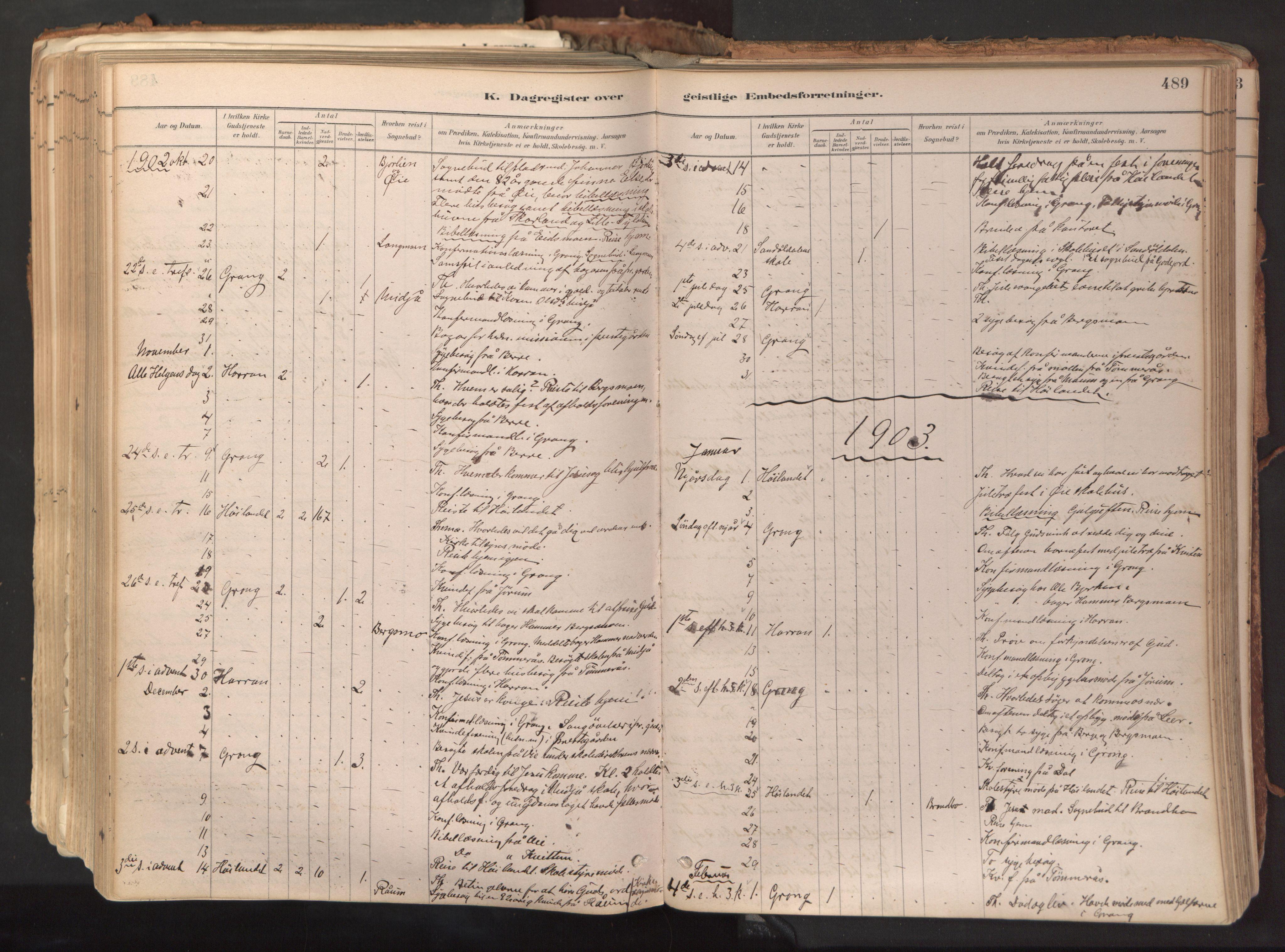 SAT, Ministerialprotokoller, klokkerbøker og fødselsregistre - Nord-Trøndelag, 758/L0519: Ministerialbok nr. 758A04, 1880-1926, s. 489