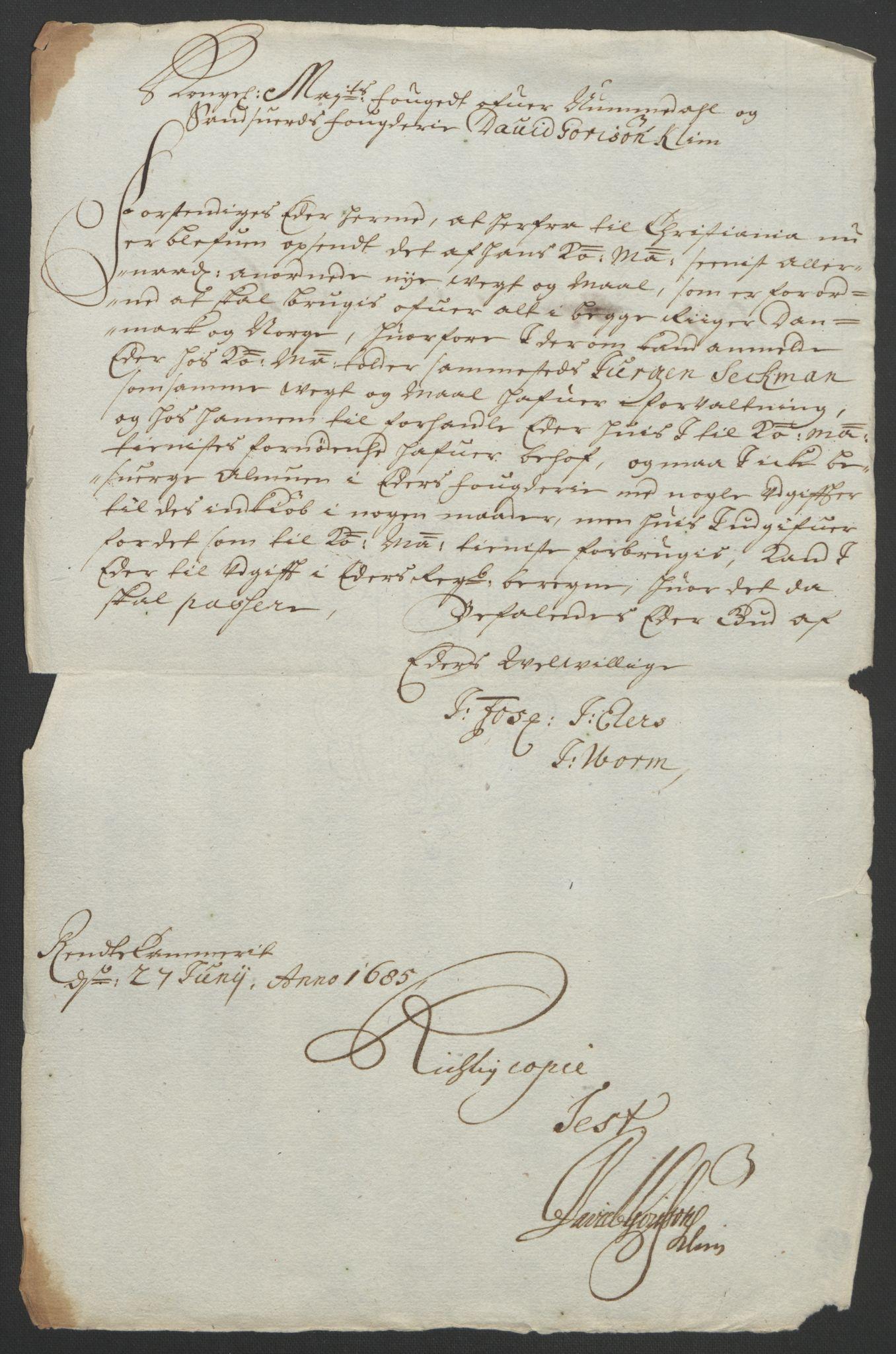 RA, Rentekammeret inntil 1814, Reviderte regnskaper, Fogderegnskap, R24/L1572: Fogderegnskap Numedal og Sandsvær, 1679-1686, s. 238