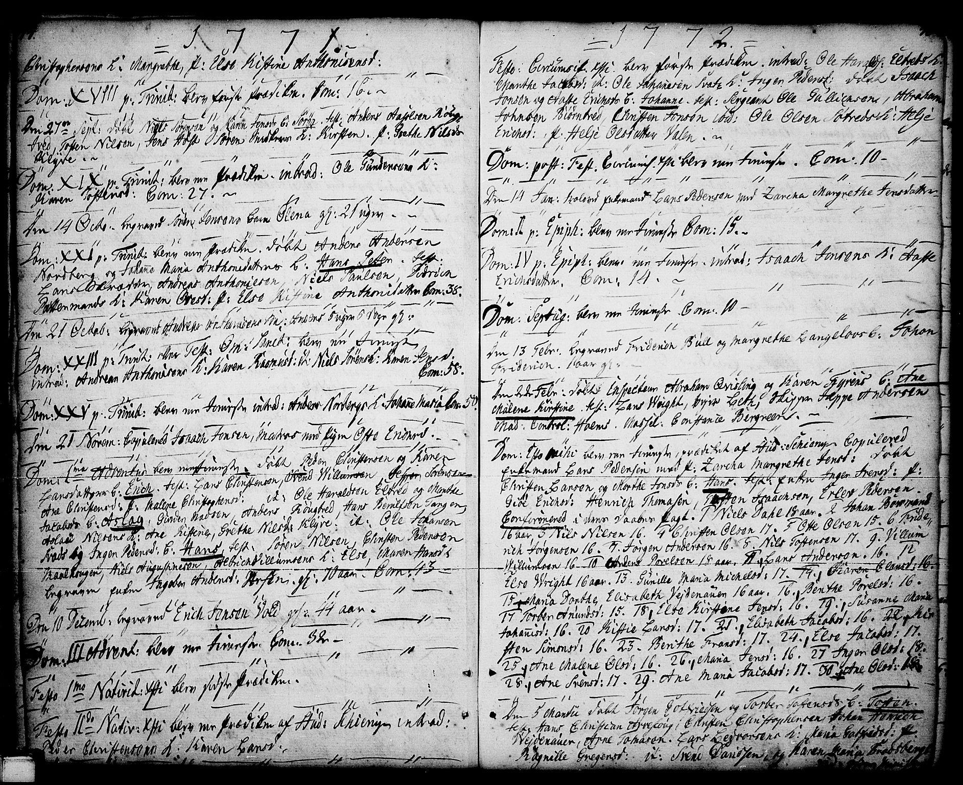 SAKO, Porsgrunn kirkebøker , F/Fa/L0001: Ministerialbok nr. 1, 1764-1814, s. 44-45