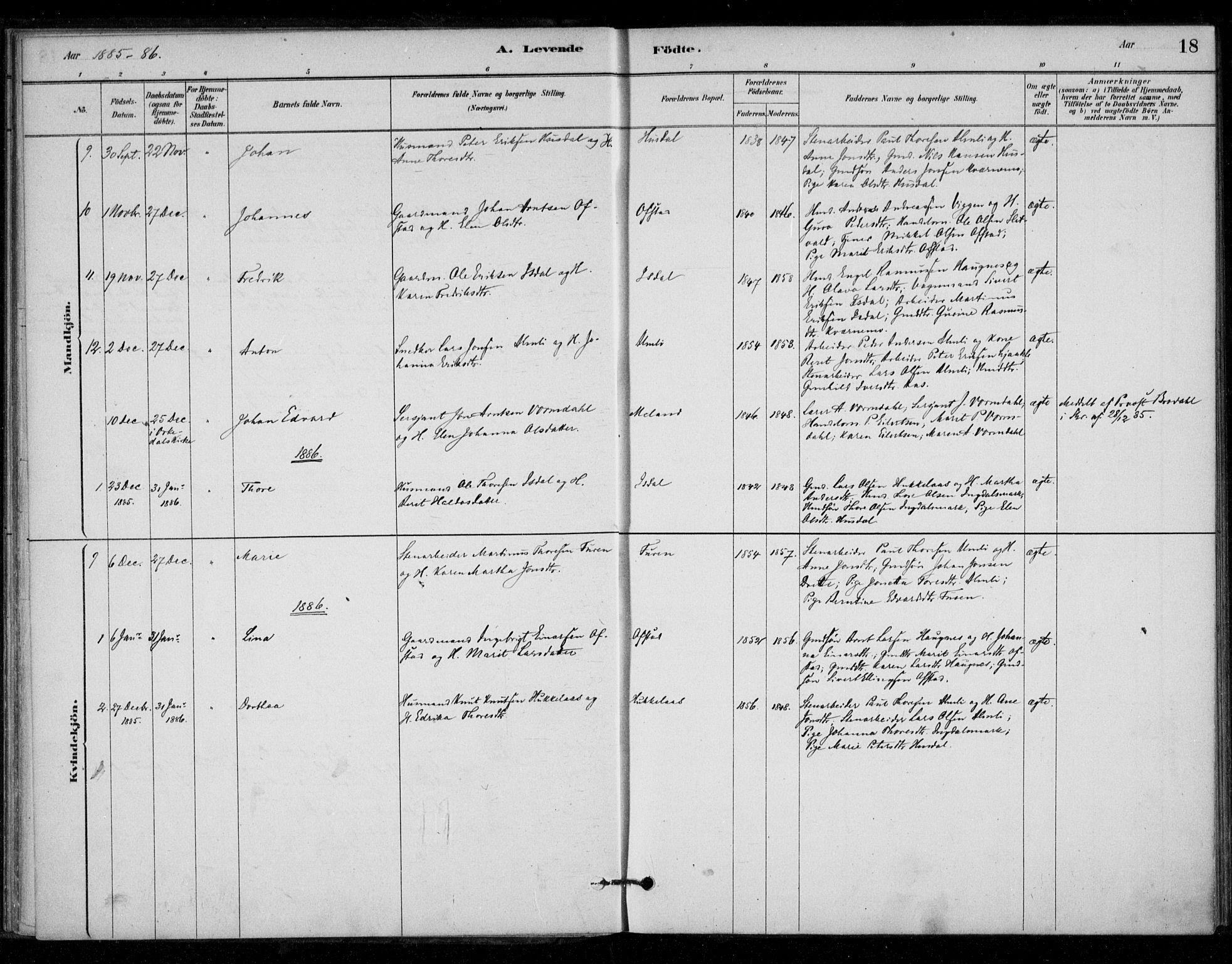 SAT, Ministerialprotokoller, klokkerbøker og fødselsregistre - Sør-Trøndelag, 670/L0836: Ministerialbok nr. 670A01, 1879-1904, s. 18