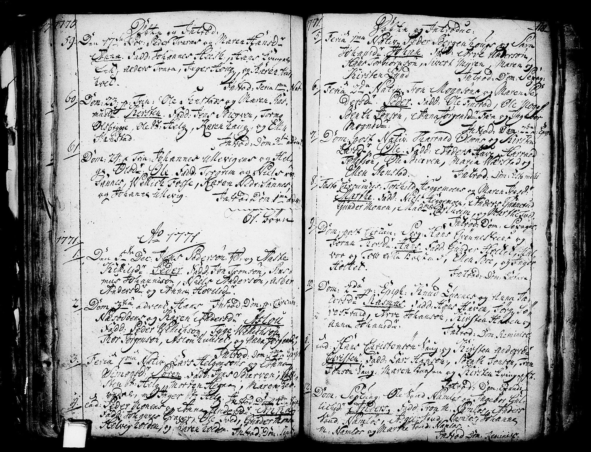 SAKO, Holla kirkebøker, F/Fa/L0001: Ministerialbok nr. 1, 1717-1779, s. 118