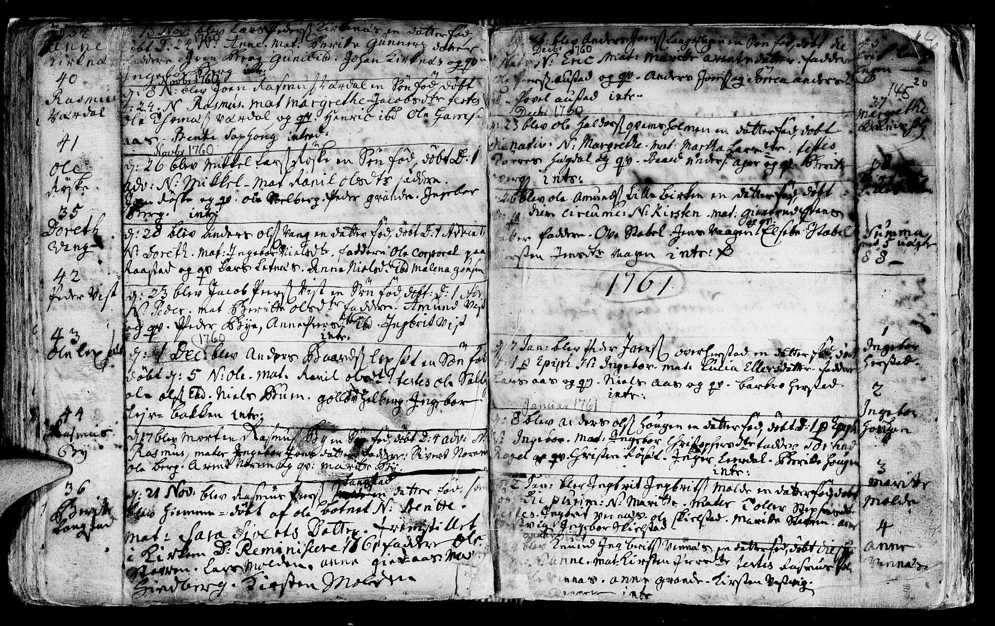 SAT, Ministerialprotokoller, klokkerbøker og fødselsregistre - Nord-Trøndelag, 730/L0272: Ministerialbok nr. 730A01, 1733-1764, s. 145