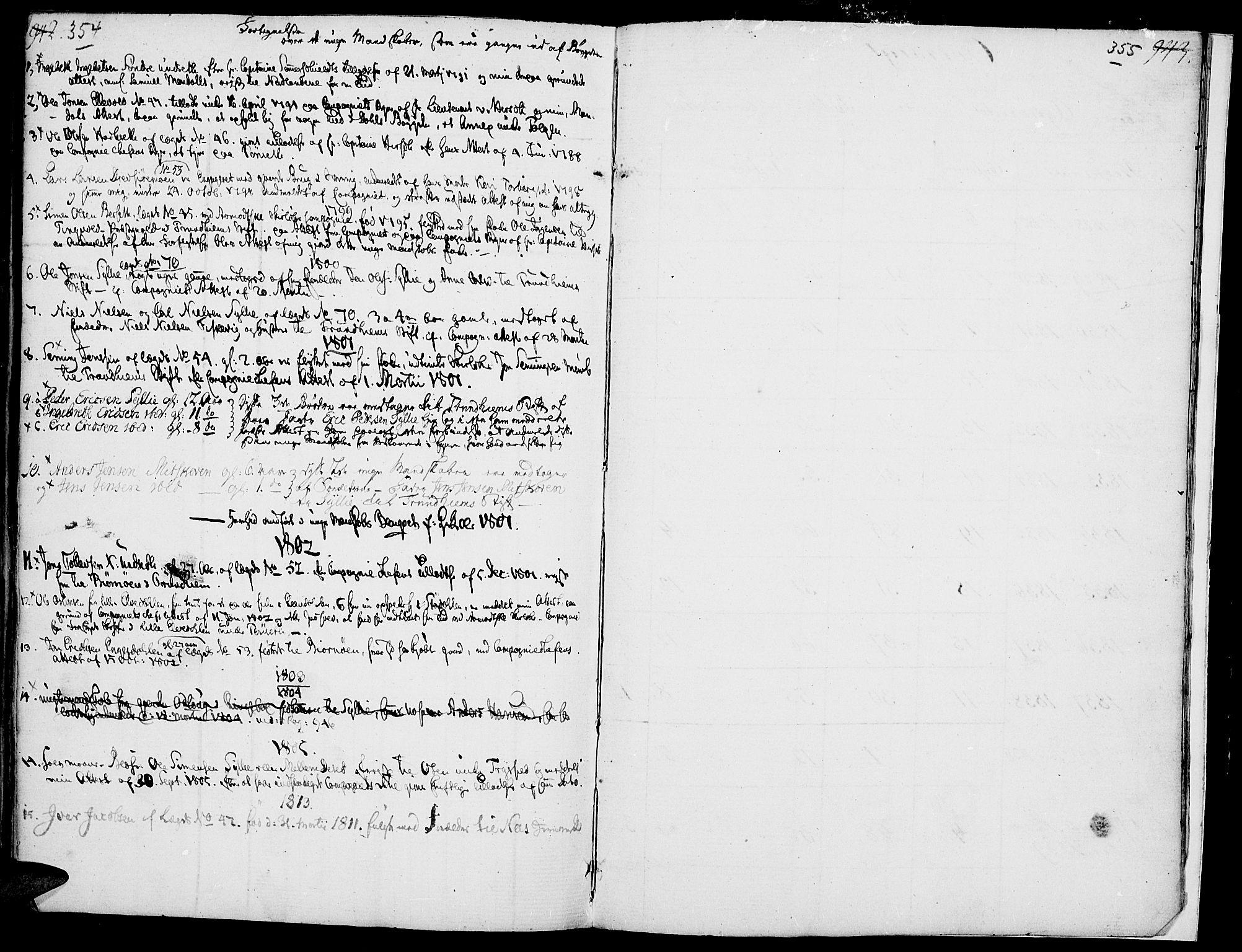SAH, Rendalen prestekontor, H/Ha/Haa/L0002: Ministerialbok nr. 2, 1788-1814, s. 354-355