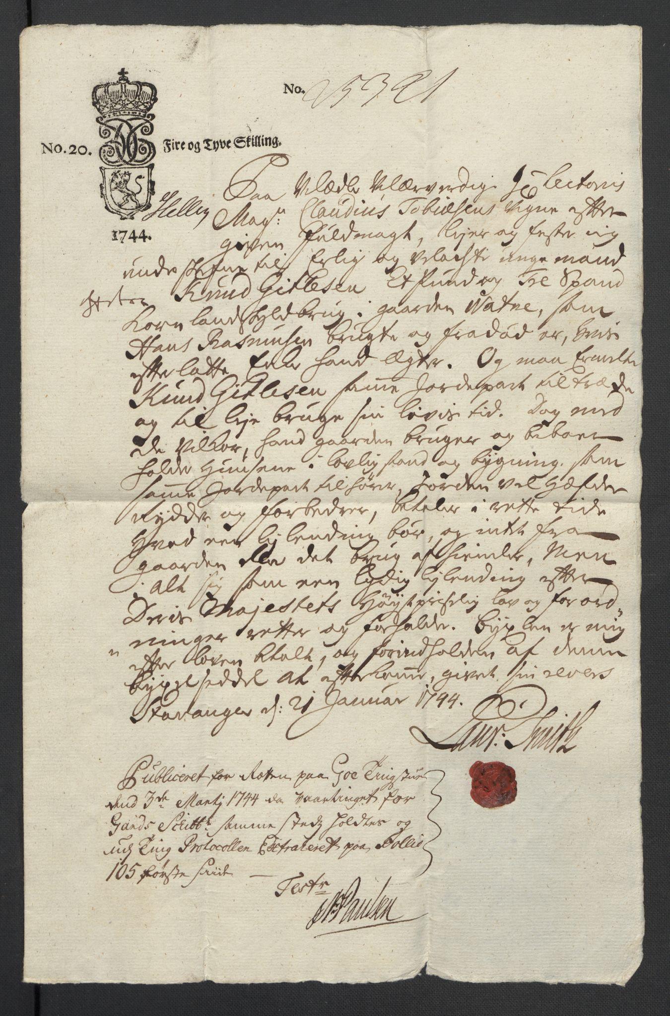 SAST, Pa 0119 - Smith, Lauritz Andersen og Lauritz Lauritzen, O/L0001: Kopibøker m.m., 1740-1745, s. 5