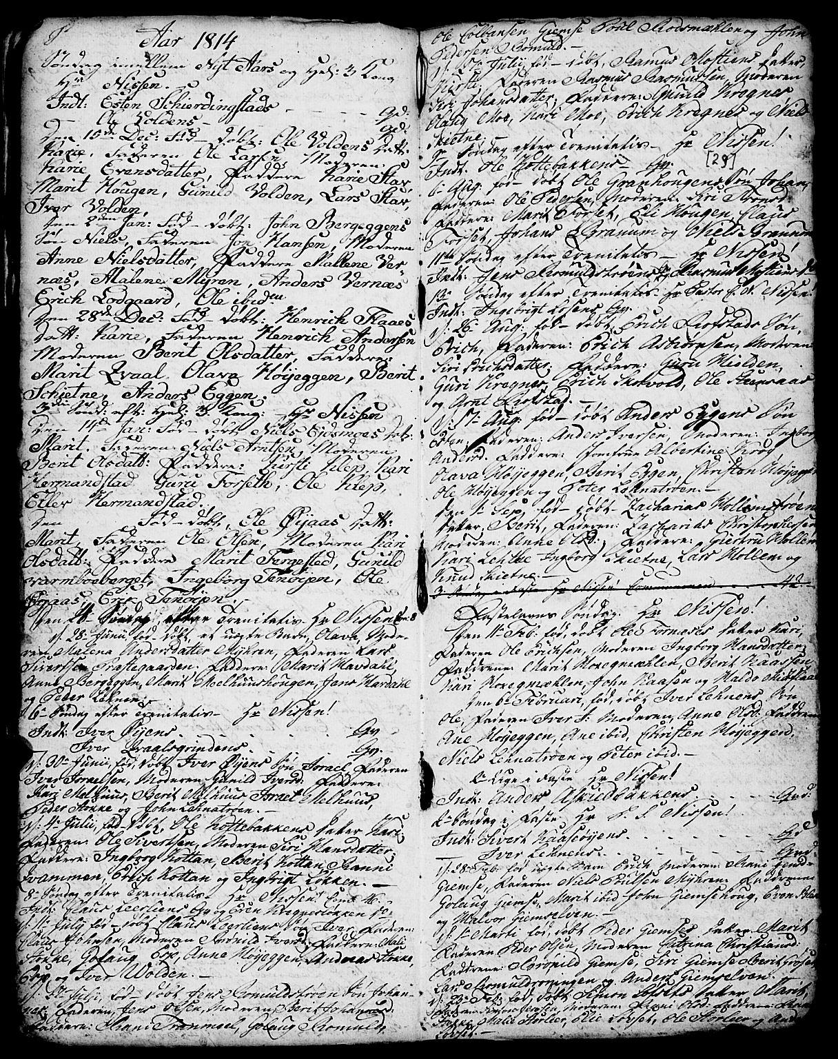 SAT, Ministerialprotokoller, klokkerbøker og fødselsregistre - Sør-Trøndelag, 691/L1091: Klokkerbok nr. 691C02, 1802-1815, s. 29