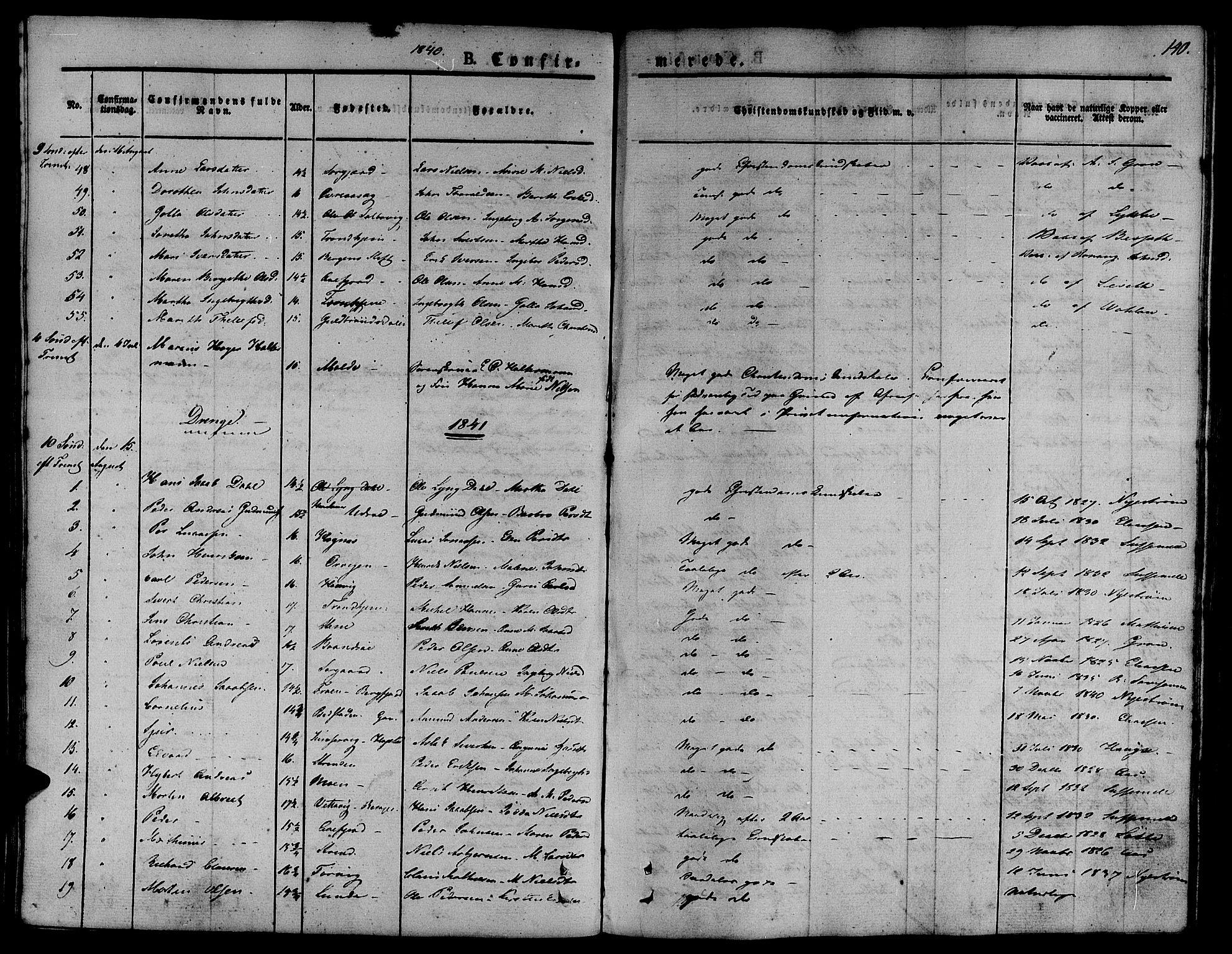SAT, Ministerialprotokoller, klokkerbøker og fødselsregistre - Sør-Trøndelag, 657/L0703: Ministerialbok nr. 657A04, 1831-1846, s. 140