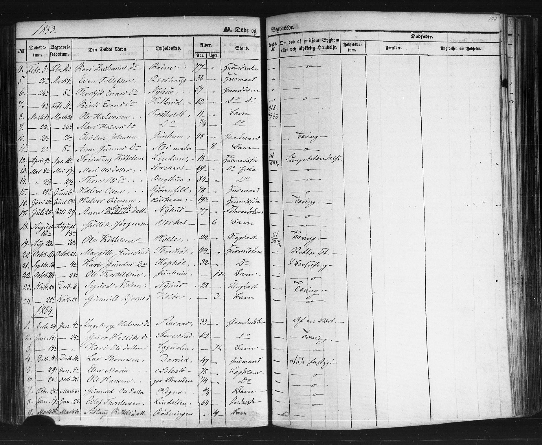 SAKO, Sauherad kirkebøker, F/Fb/L0001: Ministerialbok nr. II 1, 1851-1877, s. 140