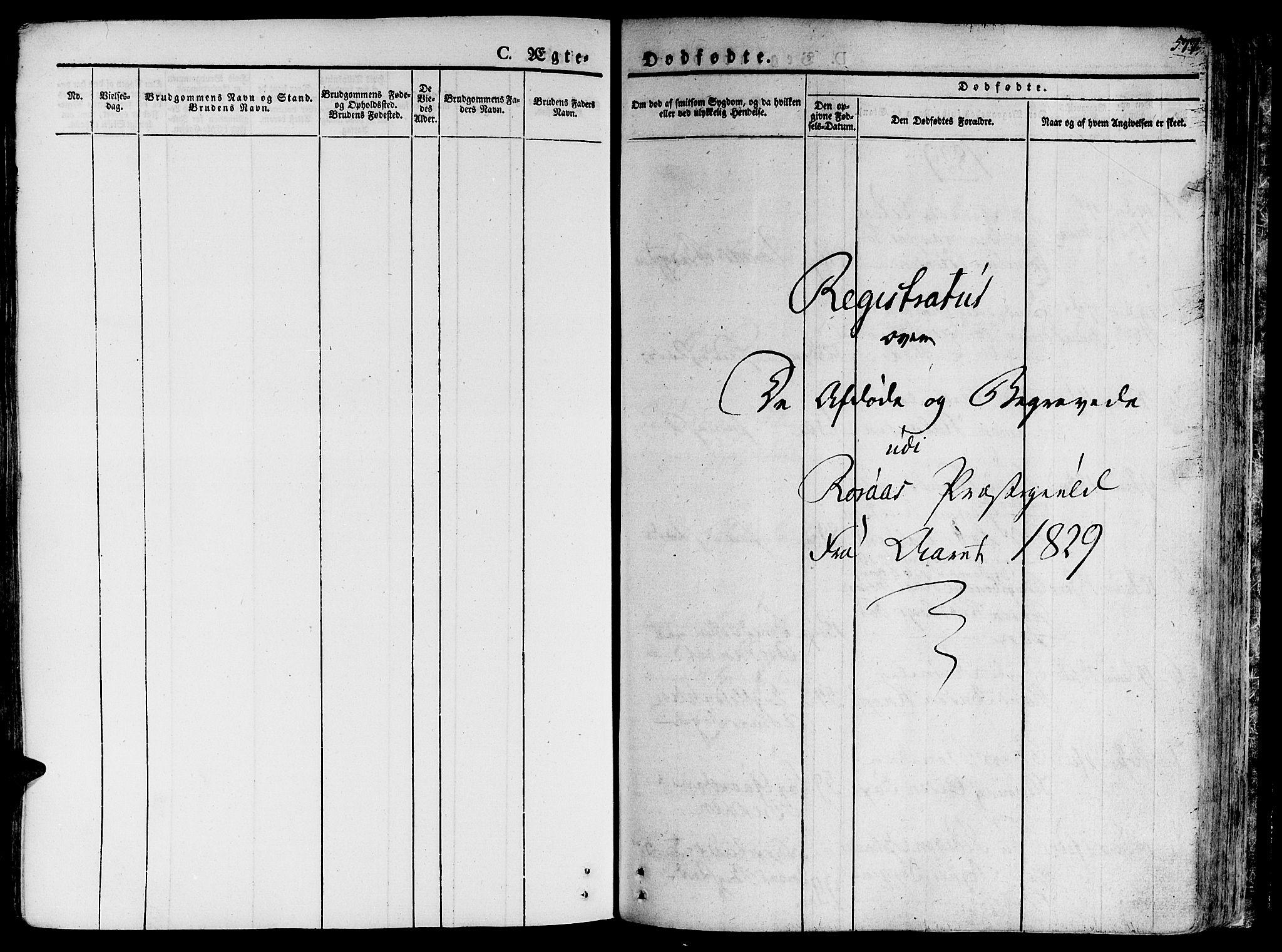 SAT, Ministerialprotokoller, klokkerbøker og fødselsregistre - Sør-Trøndelag, 681/L0930: Ministerialbok nr. 681A08, 1829-1844, s. 577