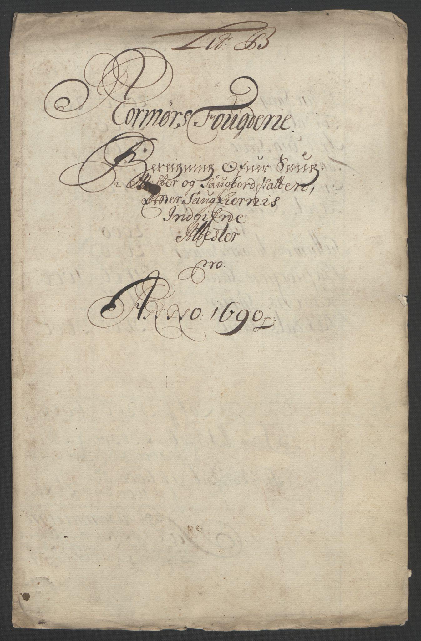 RA, Rentekammeret inntil 1814, Reviderte regnskaper, Fogderegnskap, R56/L3734: Fogderegnskap Nordmøre, 1690-1691, s. 74