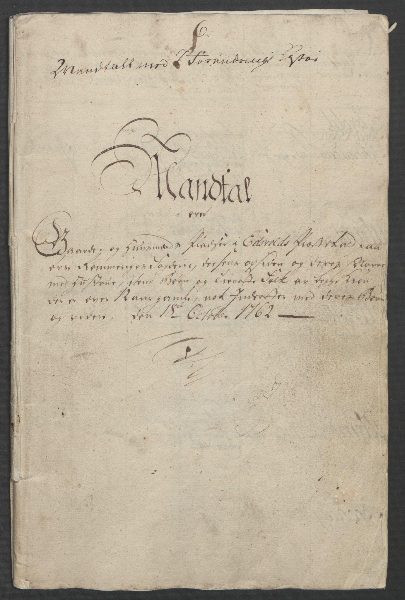 RA, Rentekammeret inntil 1814, Reviderte regnskaper, Fogderegnskap, R12/L0802: Ekstraskatten Øvre Romerike, 1762, s. 410