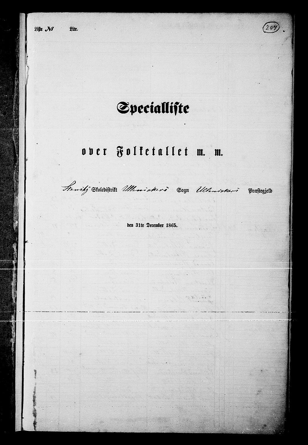 RA, Folketelling 1865 for 0235P Ullensaker prestegjeld, 1865, s. 179