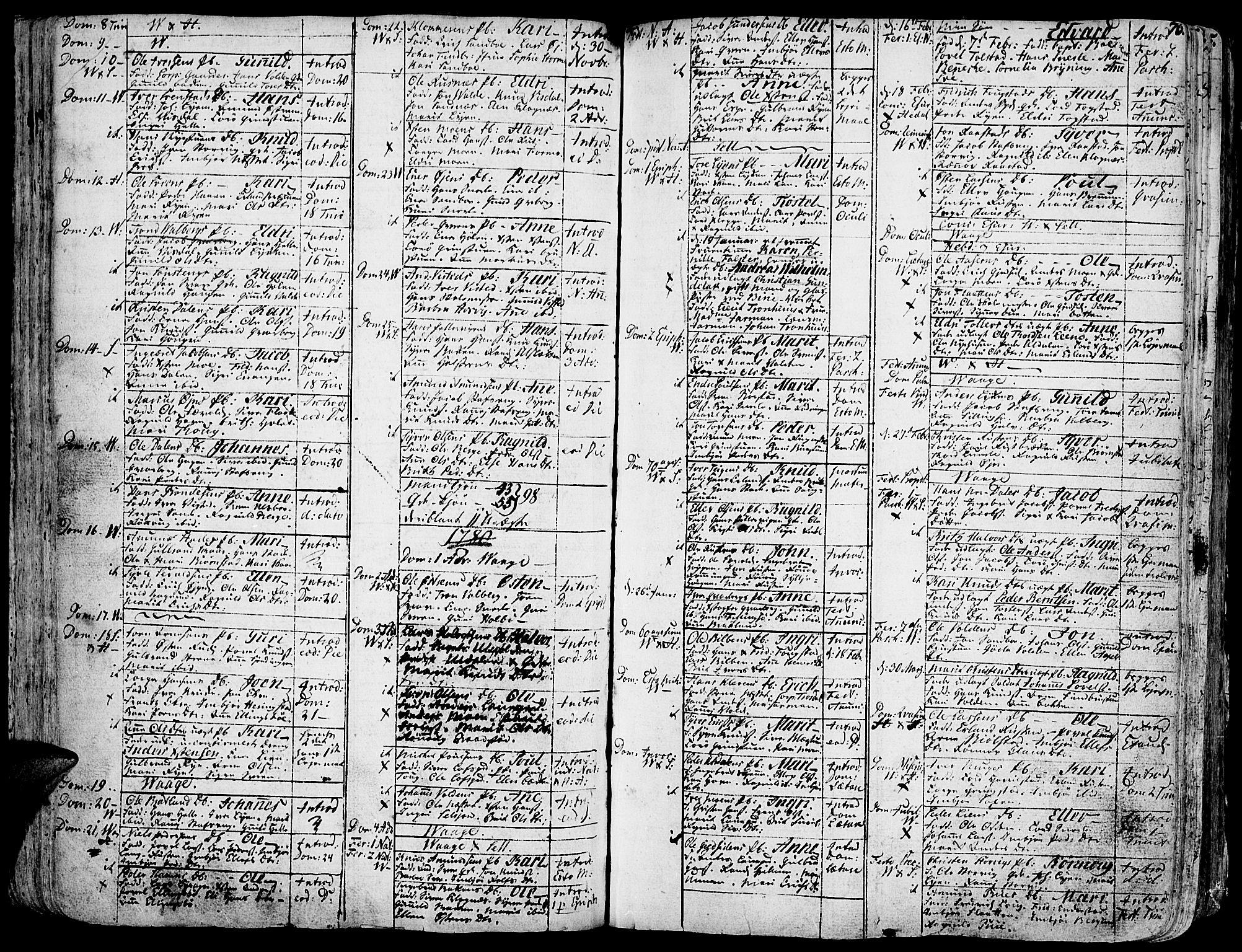 SAH, Vågå prestekontor, Ministerialbok nr. 1, 1739-1810, s. 76