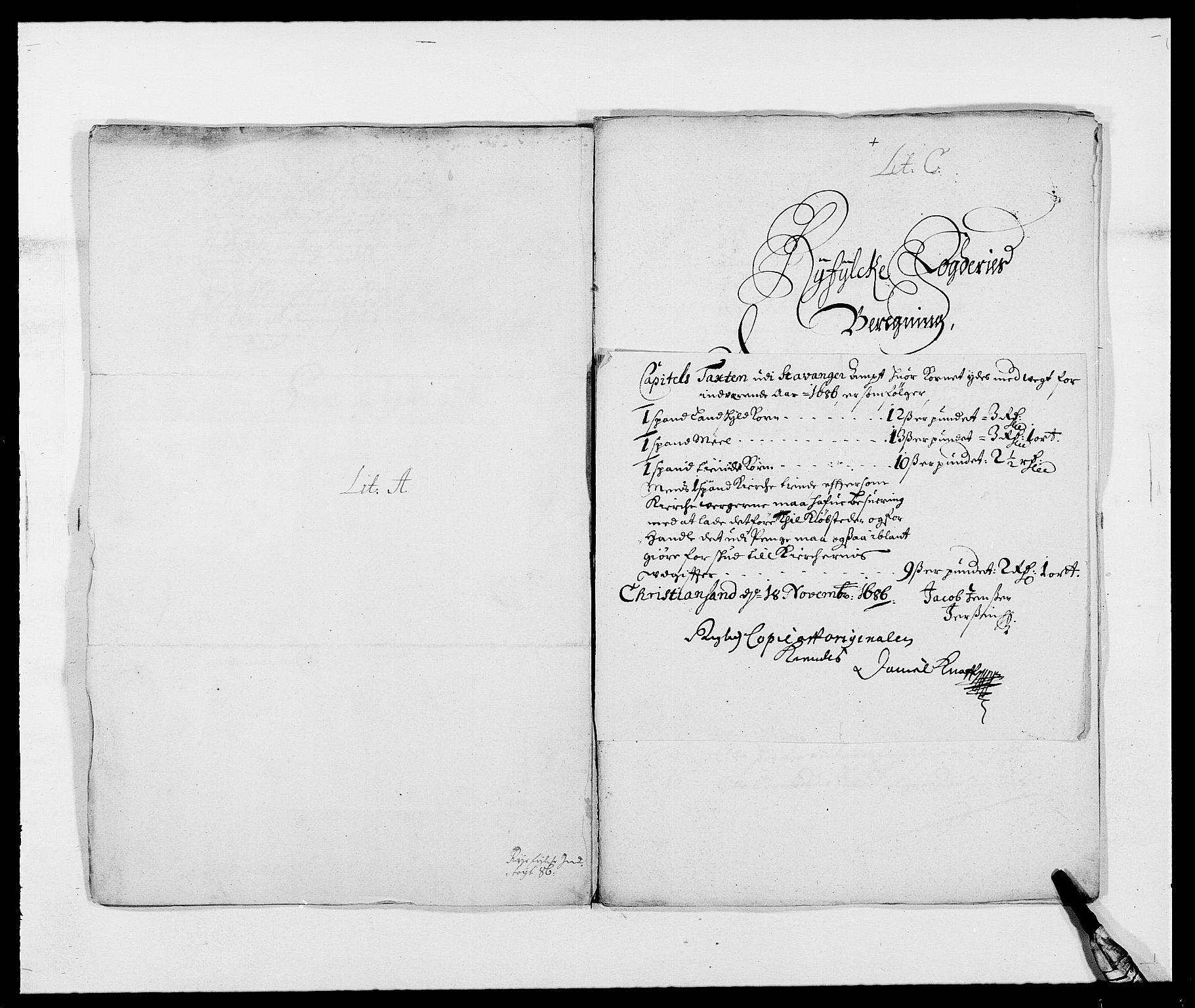 RA, Rentekammeret inntil 1814, Reviderte regnskaper, Fogderegnskap, R47/L2855: Fogderegnskap Ryfylke, 1685-1688, s. 127