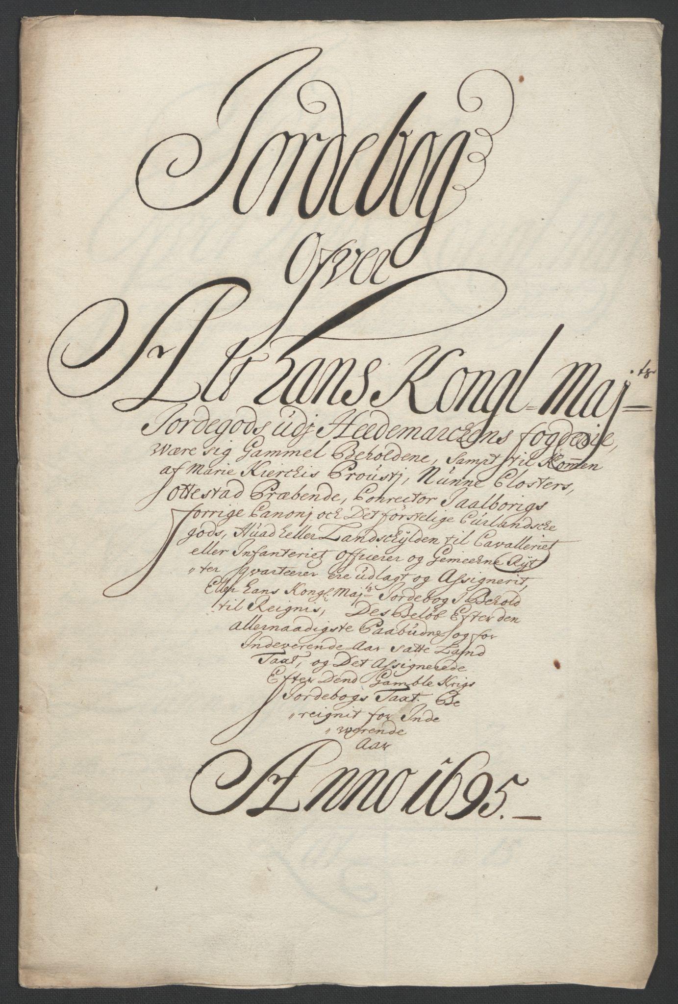RA, Rentekammeret inntil 1814, Reviderte regnskaper, Fogderegnskap, R16/L1036: Fogderegnskap Hedmark, 1695-1696, s. 33