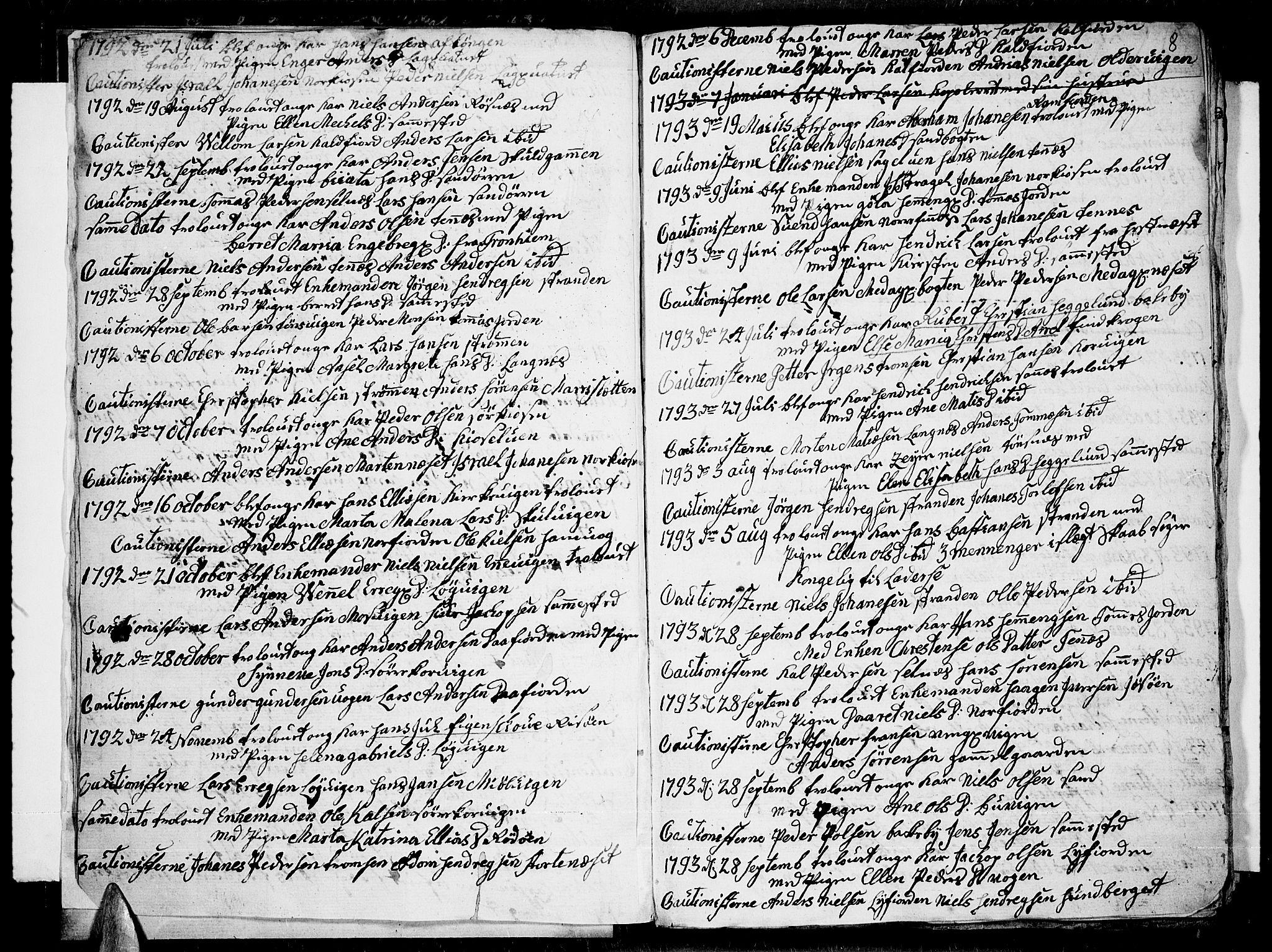 SATØ, Tromsø sokneprestkontor/stiftsprosti/domprosti, G/Ga/L0004kirke: Ministerialbok nr. 4, 1787-1795, s. 8