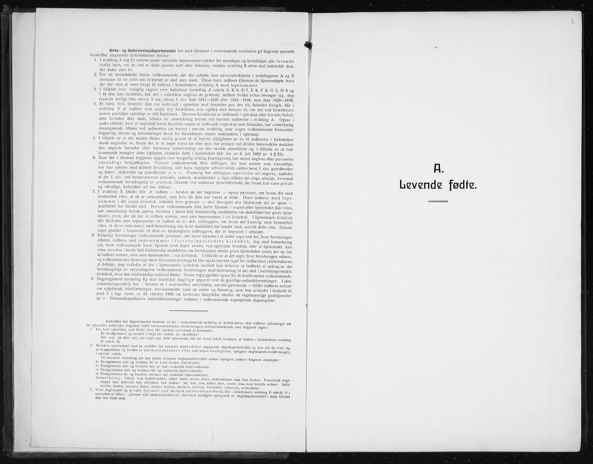 SAB, Den Norske Sjømannsmisjon i utlandet*, Ministerialbok nr. A 8, 1923-1935, s. 1