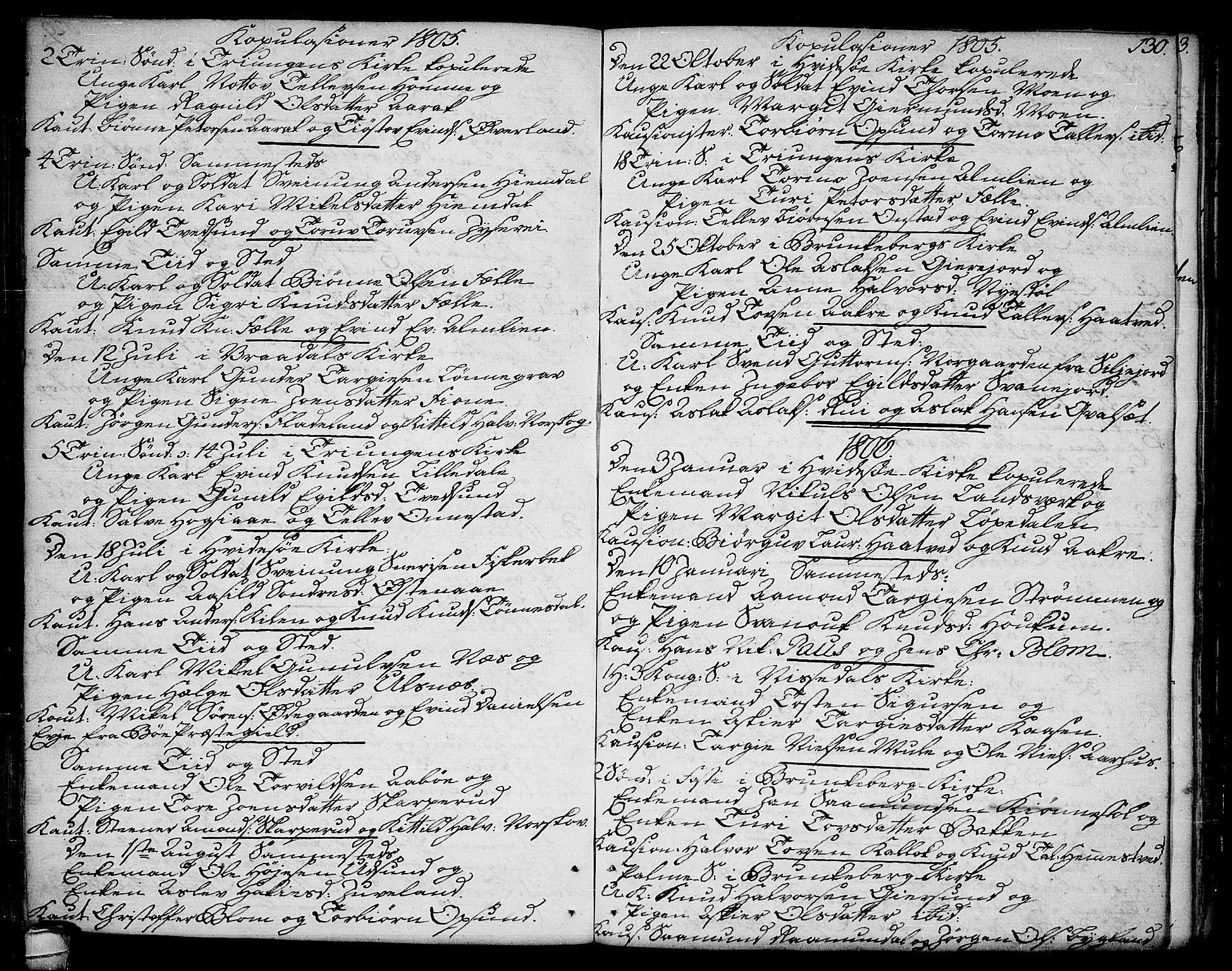 SAKO, Kviteseid kirkebøker, F/Fa/L0004: Ministerialbok nr. I 4, 1800-1814, s. 130