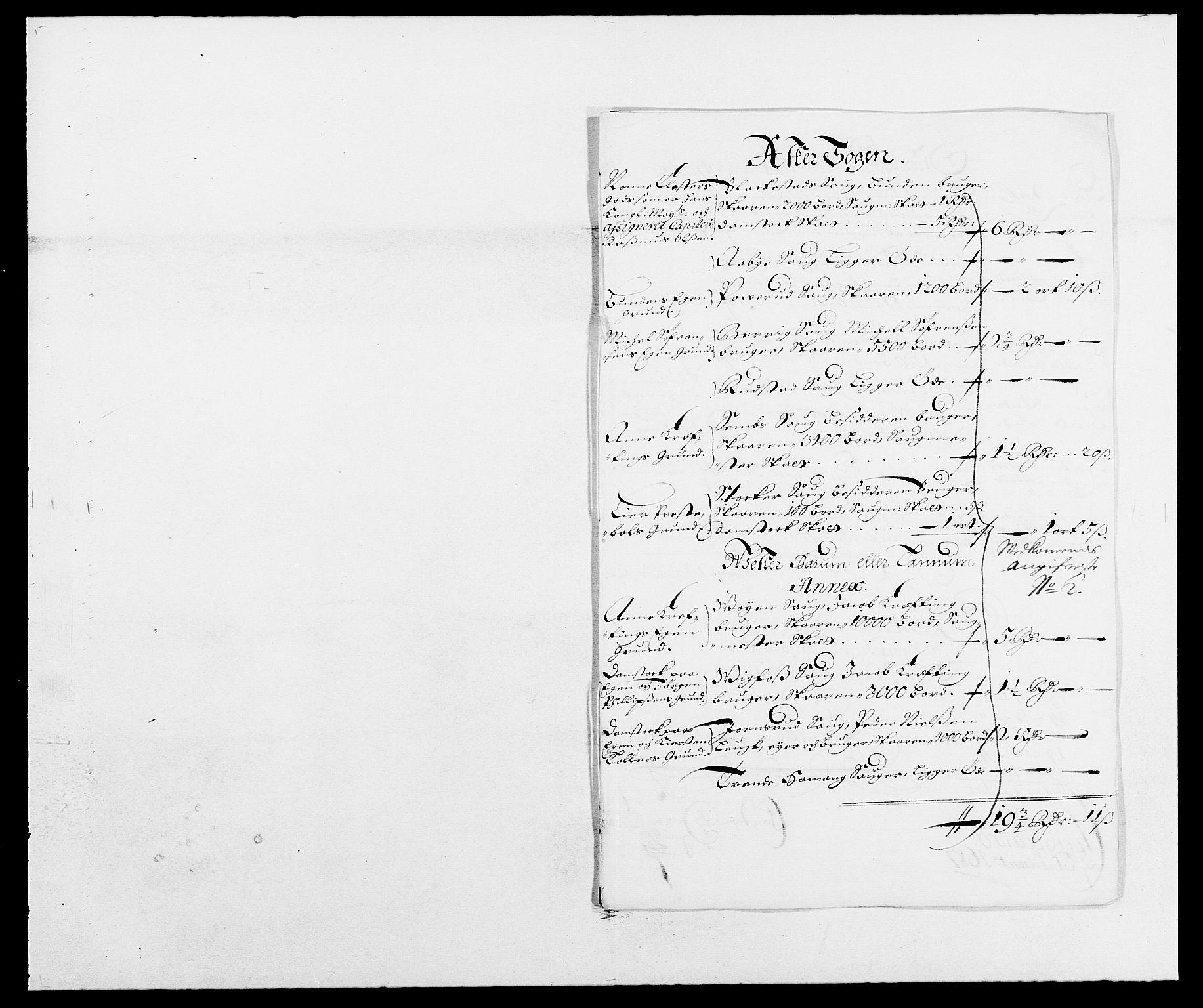 RA, Rentekammeret inntil 1814, Reviderte regnskaper, Fogderegnskap, R08/L0422: Fogderegnskap Aker, 1684-1686, s. 214
