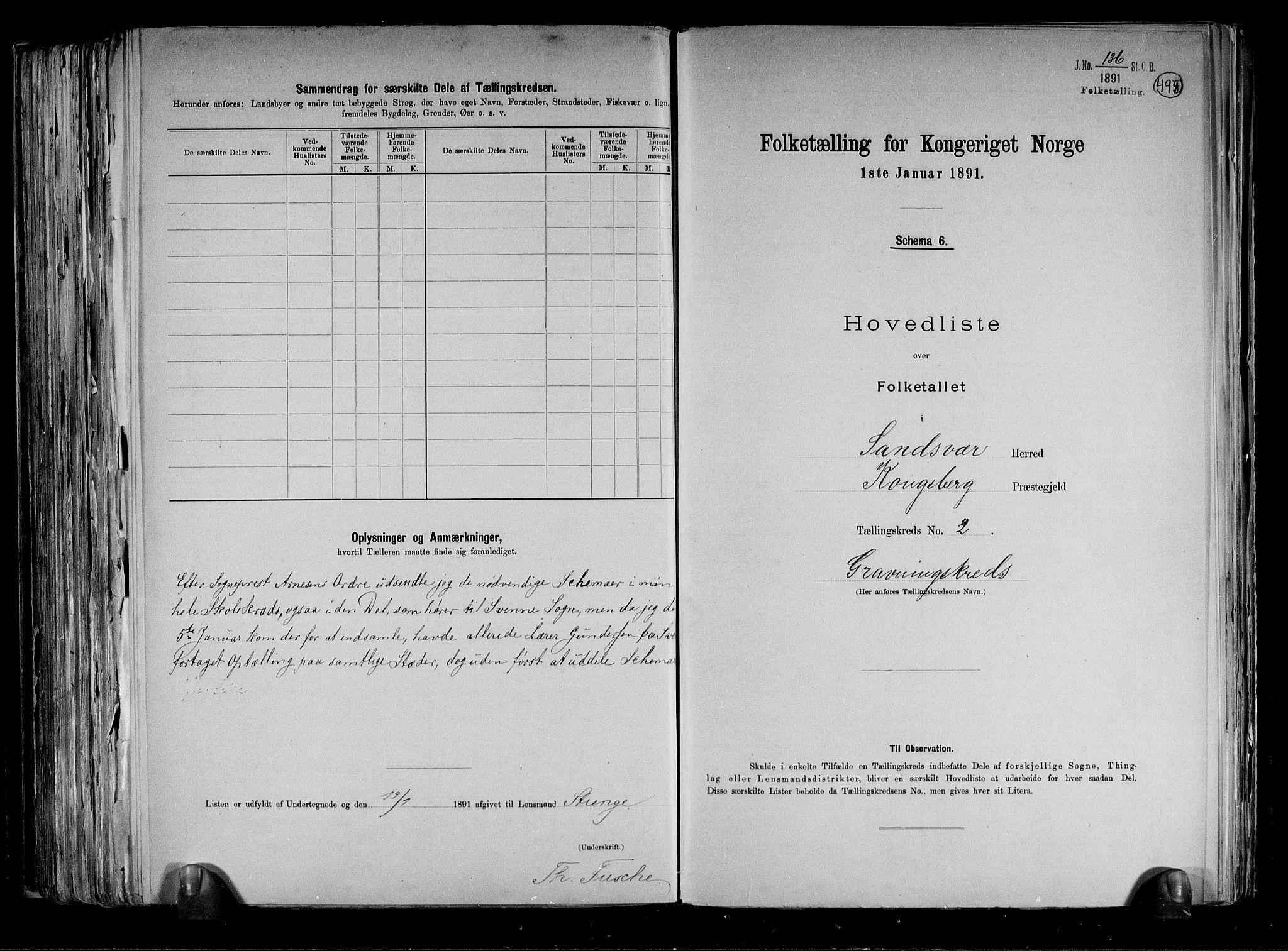 RA, Folketelling 1891 for 0629 Sandsvær herred, 1891, s. 38