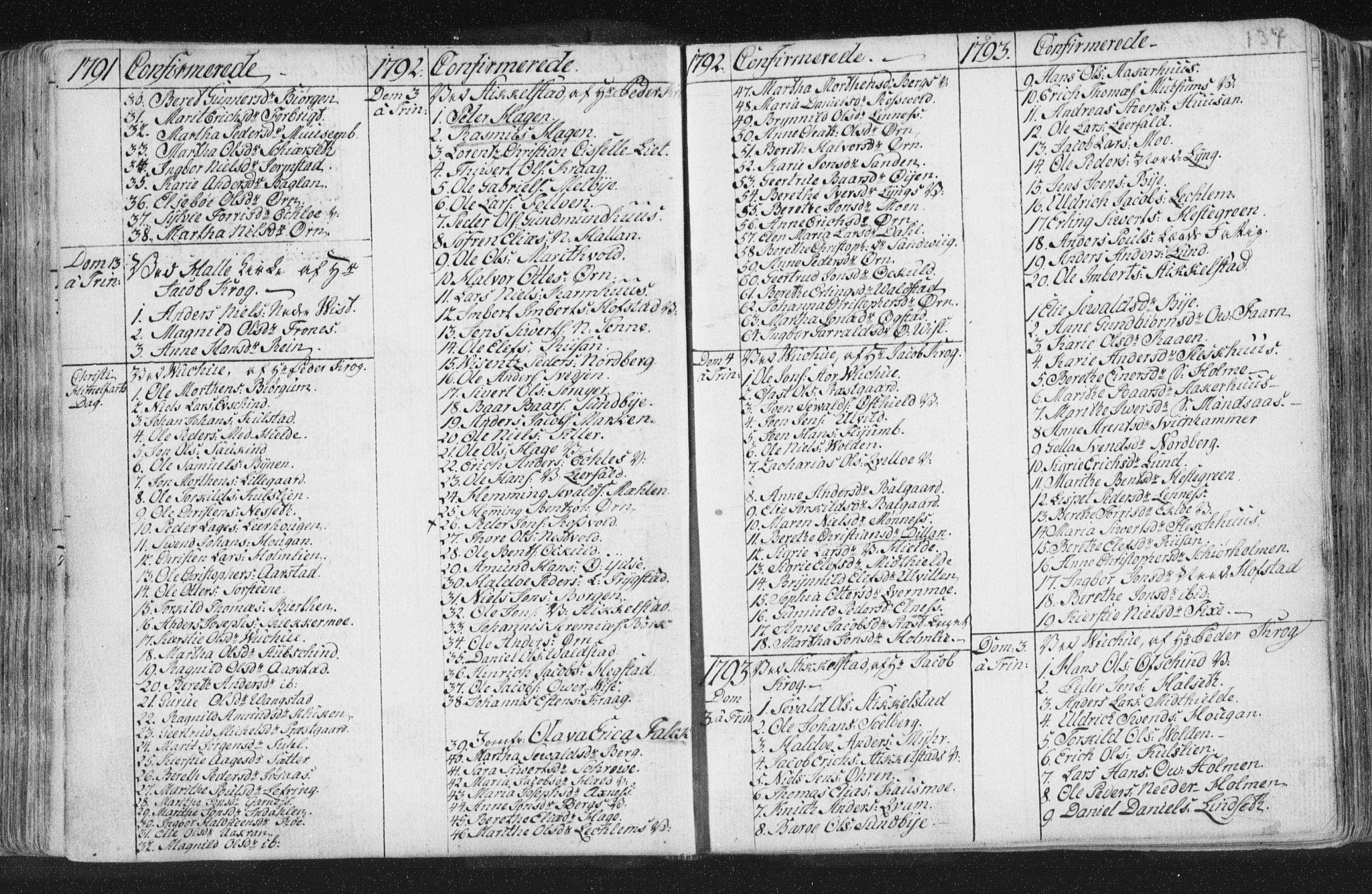 SAT, Ministerialprotokoller, klokkerbøker og fødselsregistre - Nord-Trøndelag, 723/L0232: Ministerialbok nr. 723A03, 1781-1804, s. 134