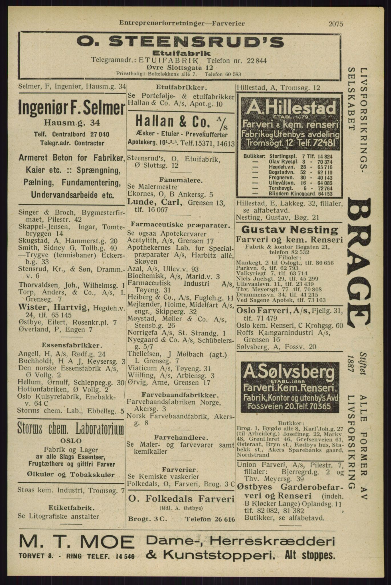 RA, Oslo adressebok (publikasjon)*, 1929, s. 2075