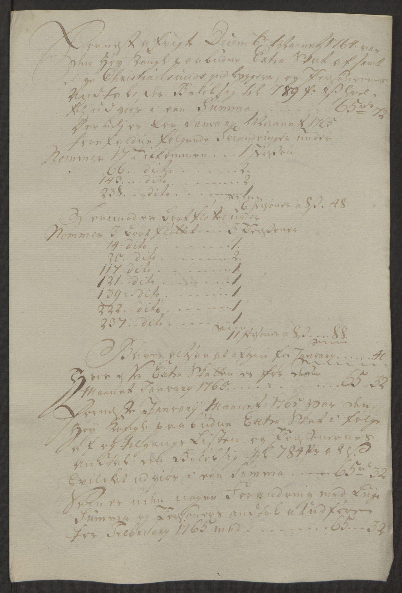 RA, Rentekammeret inntil 1814, Reviderte regnskaper, Byregnskaper, R/Rr/L0495: [R1] Kontribusjonsregnskap, 1762-1772, s. 62