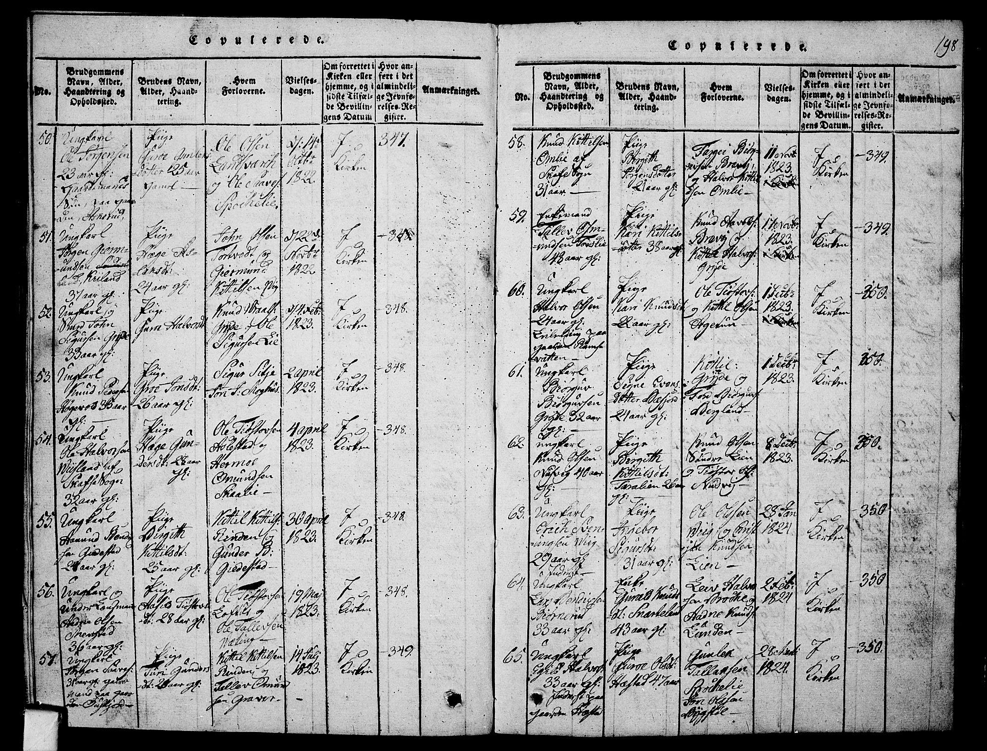 SAKO, Fyresdal kirkebøker, G/Ga/L0001: Klokkerbok nr. I 1, 1816-1840, s. 198