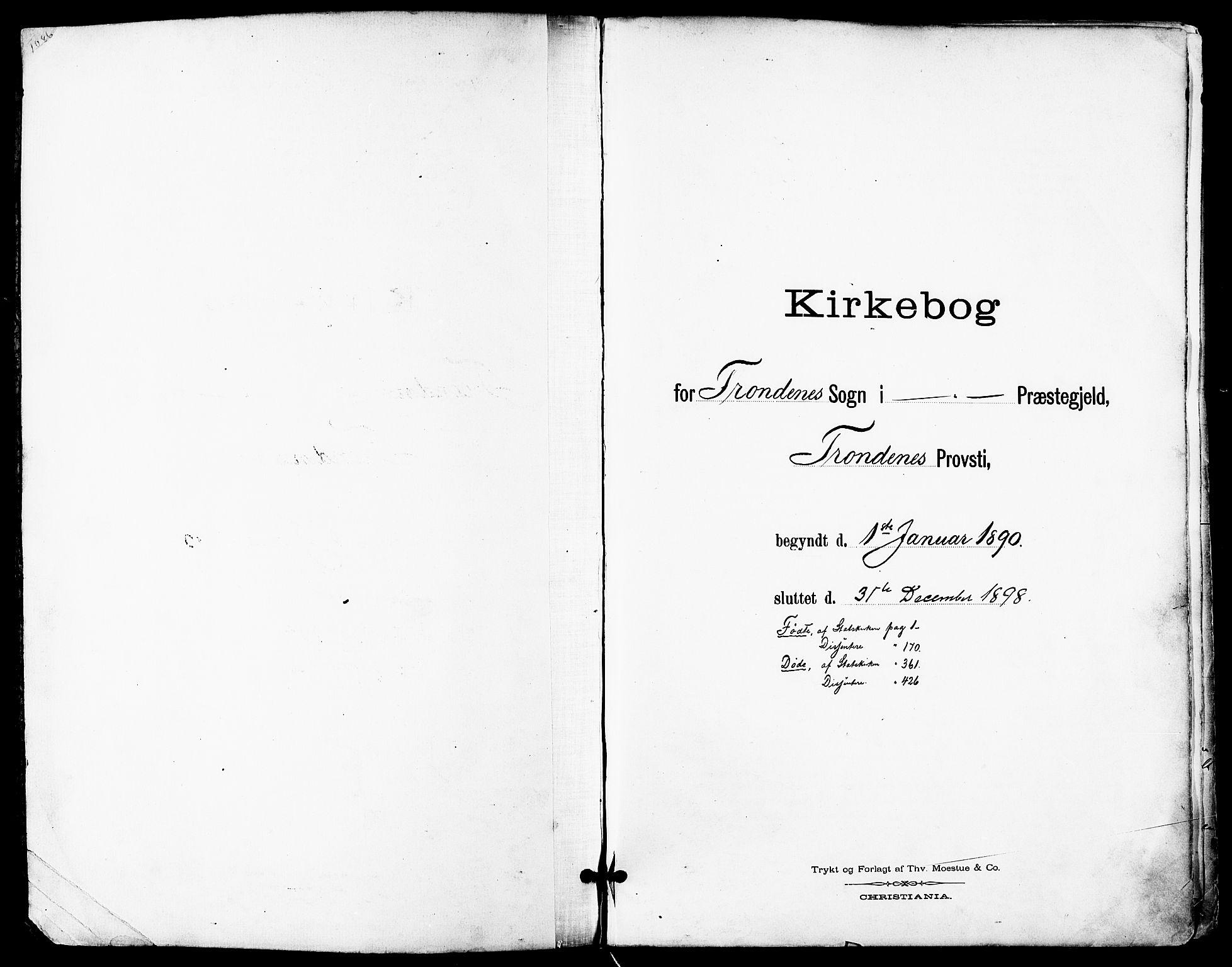 SATØ, Trondenes sokneprestkontor, H/Ha/L0016kirke: Ministerialbok nr. 16, 1890-1898