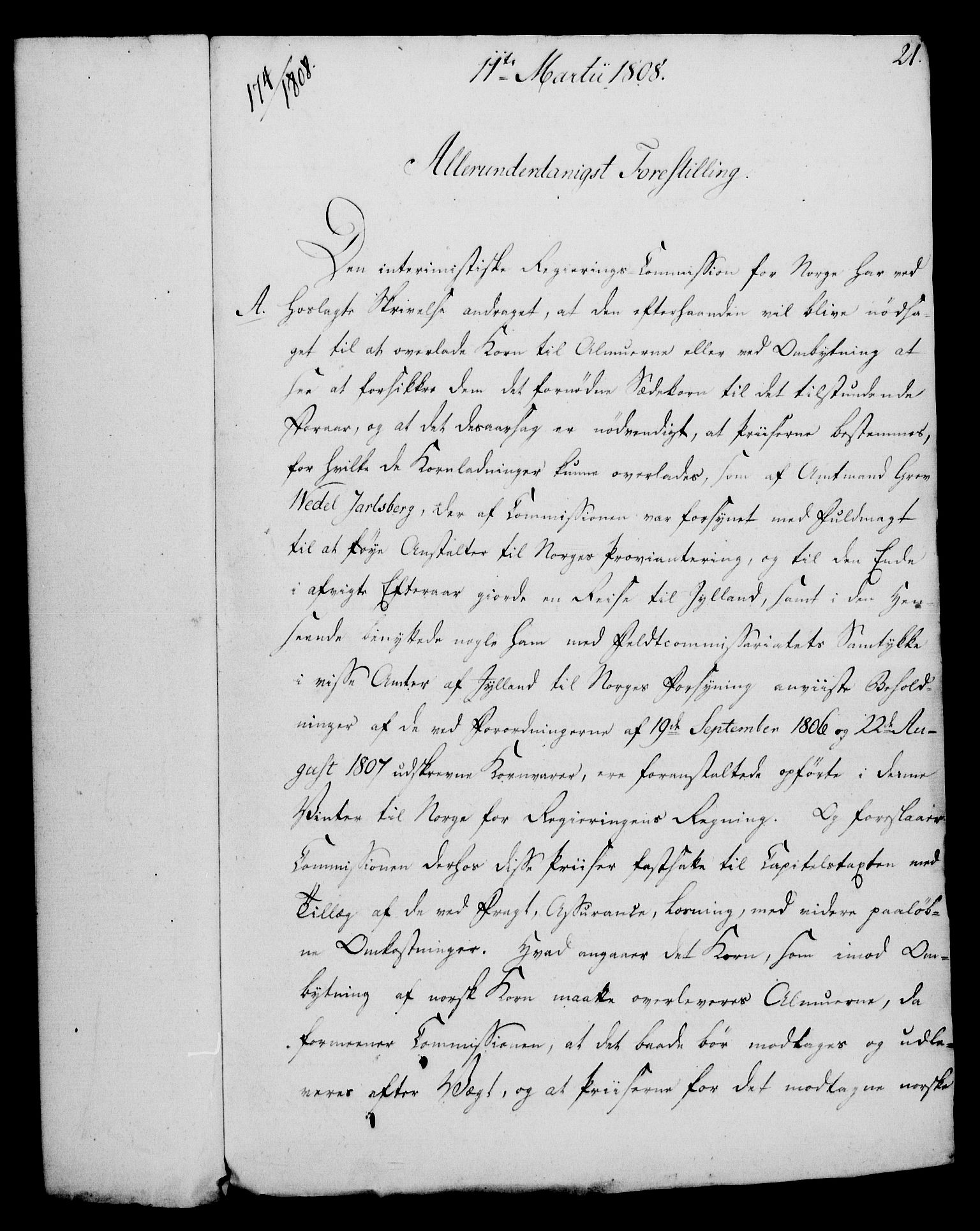 RA, Rentekammeret, Kammerkanselliet, G/Gf/Gfa/L0090: Norsk relasjons- og resolusjonsprotokoll (merket RK 52.90), 1808, s. 140