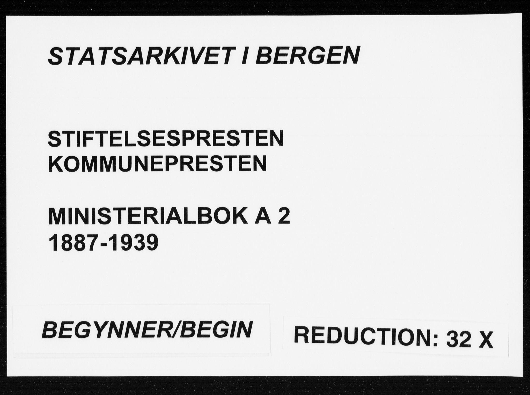SAB, Arkivreferanse mangler*, Ministerialbok nr. A 2, 1887-1939