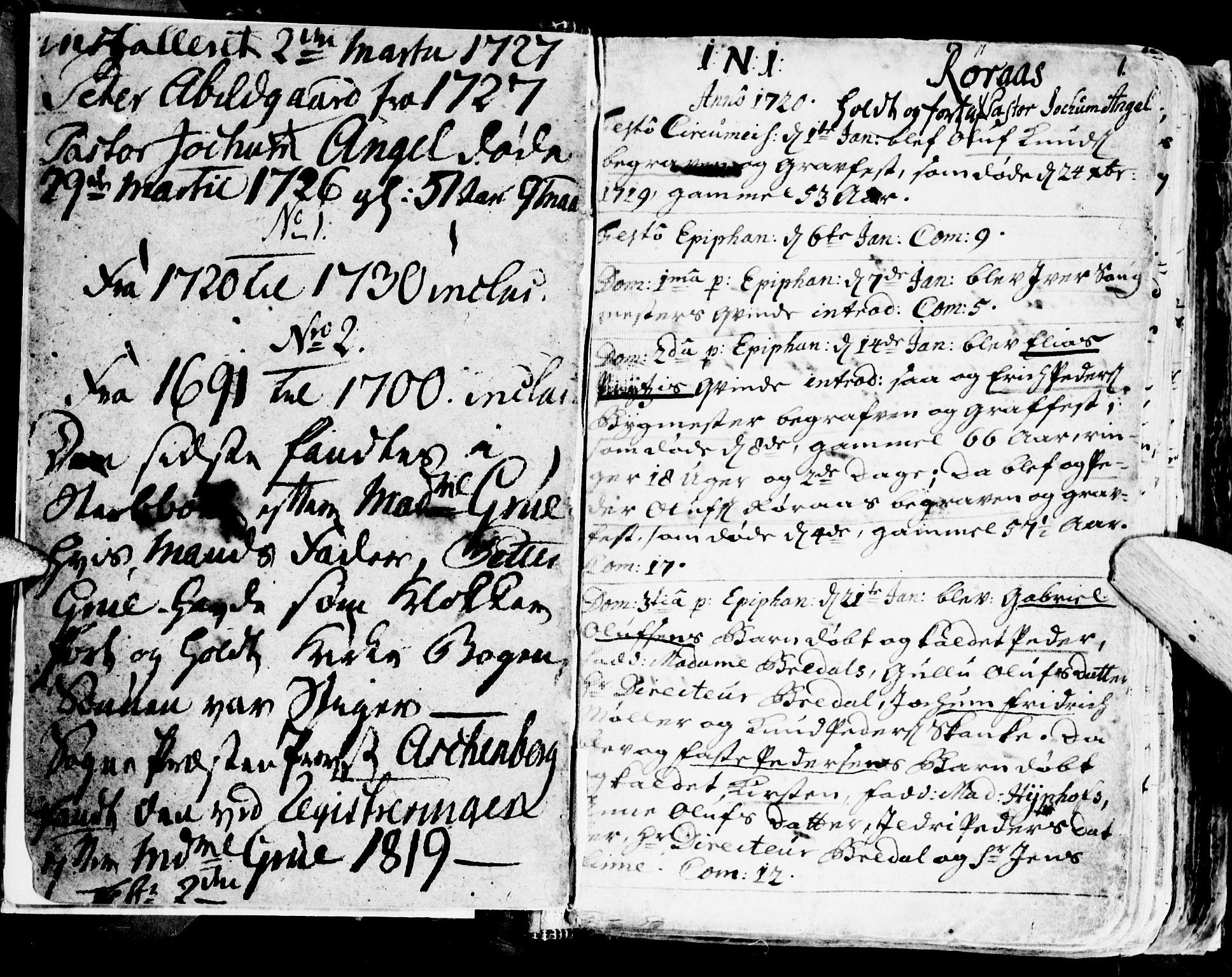 SAT, Ministerialprotokoller, klokkerbøker og fødselsregistre - Sør-Trøndelag, 681/L0924: Ministerialbok nr. 681A02, 1720-1731, s. 0-1