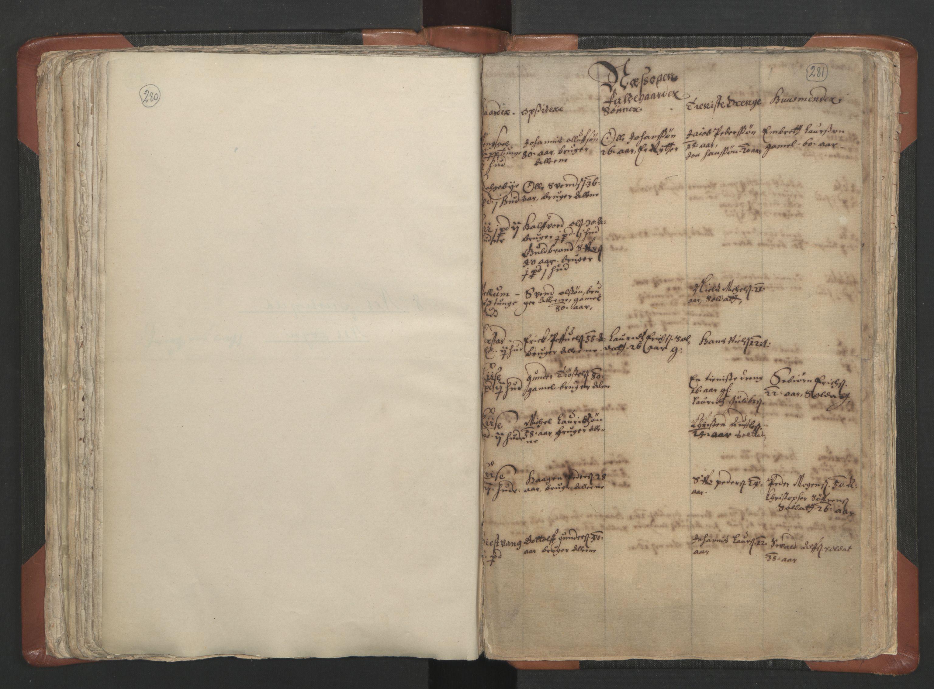 RA, Sogneprestenes manntall 1664-1666, nr. 5: Hedmark prosti, 1664-1666, s. 280-281